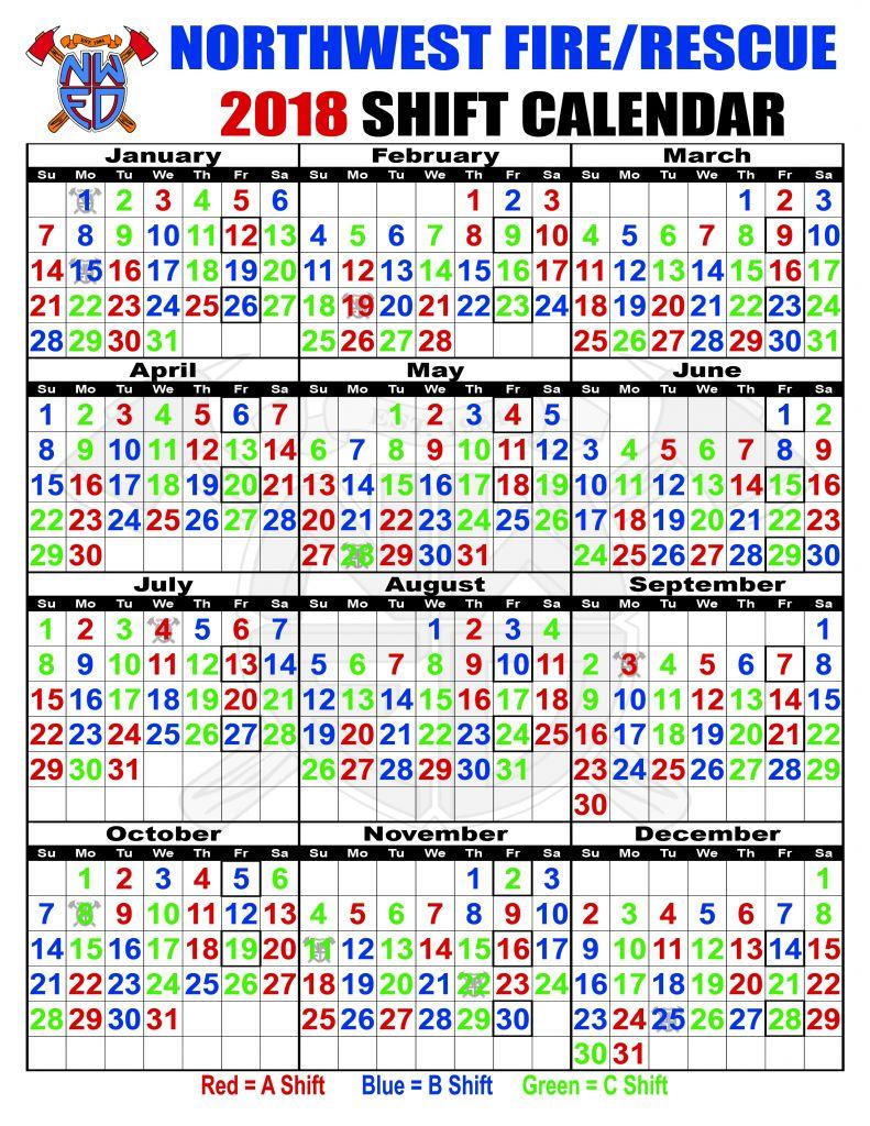 Best Of 35 Sample Fire Department Shift Calendar | Blank