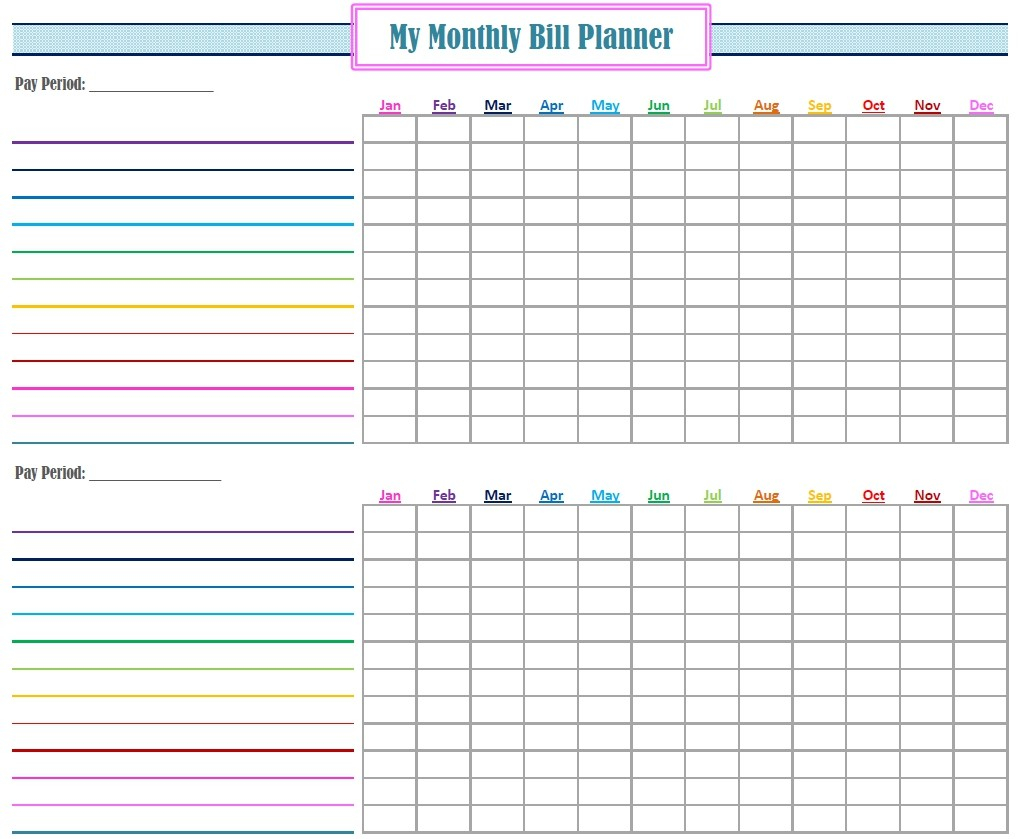 Bill Calendar Template Infinite Imagine Monthly In Monthly