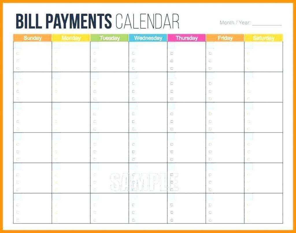 Bill Calendar Template Of Sale Printable Camisonline Net