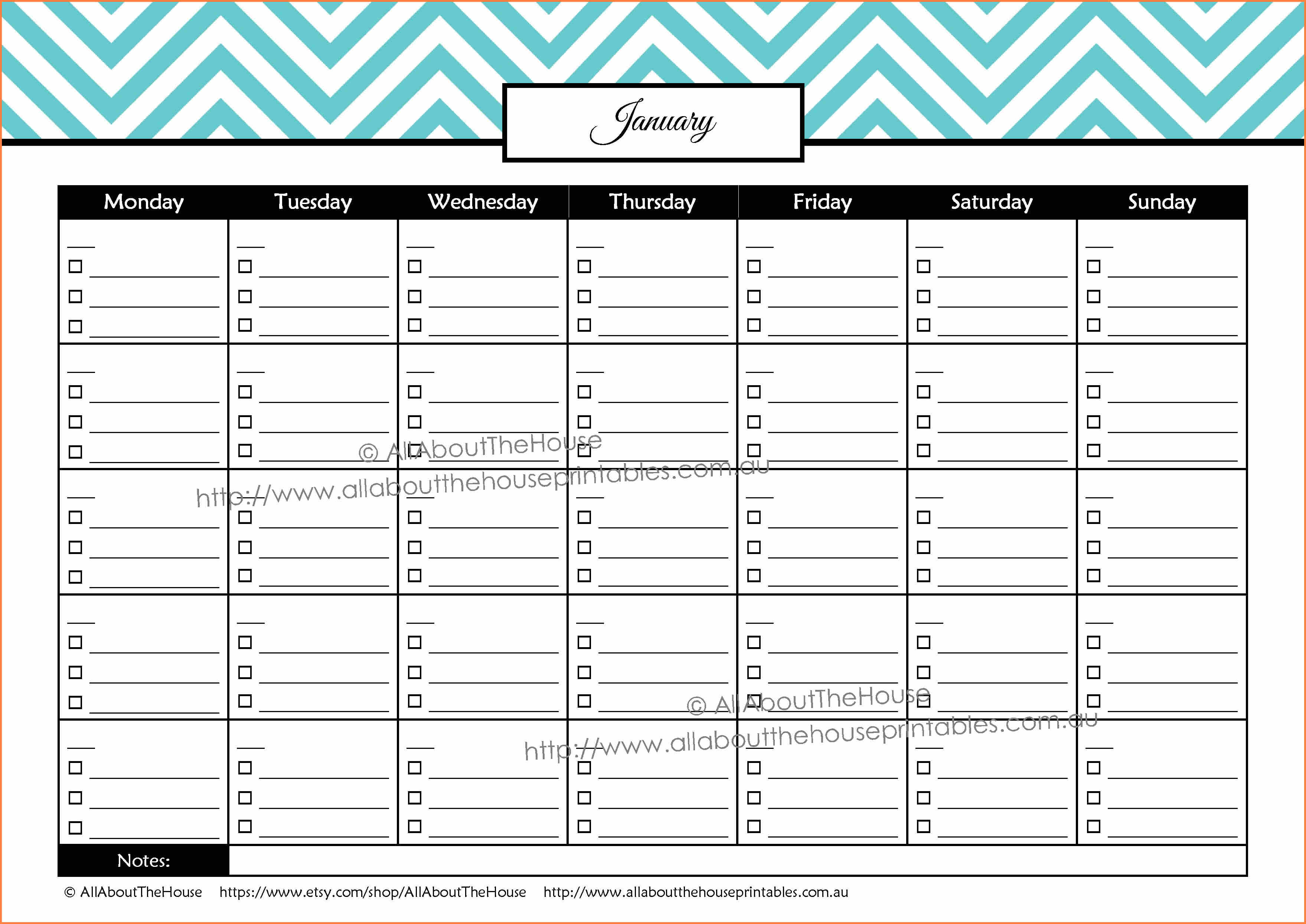Bill Paying Calendar Template Bussiness Proposal Monthly