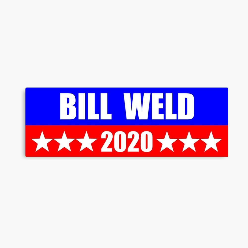 Bill Weld For President 2020 Sticker Decal Mug Shirt Republican   Canvas  Print
