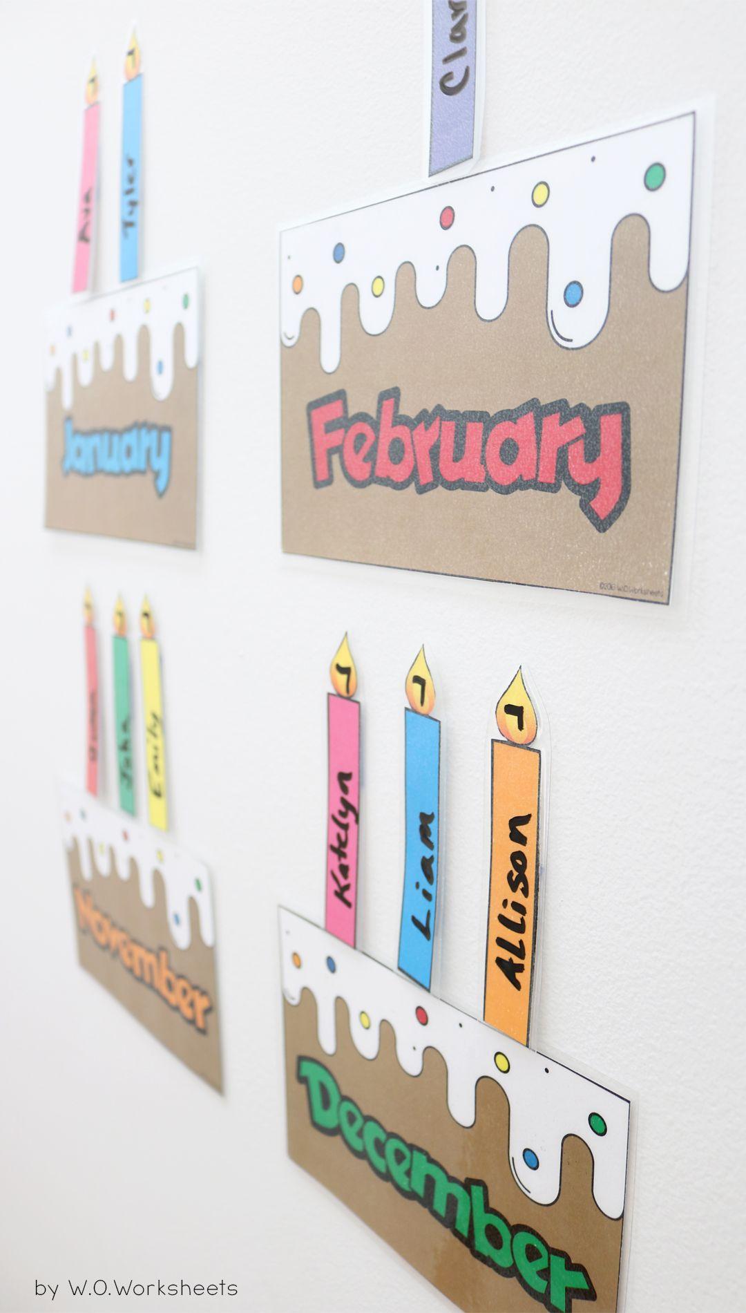 Birthday Display Bulletin Board Chart | Kids | Classroom