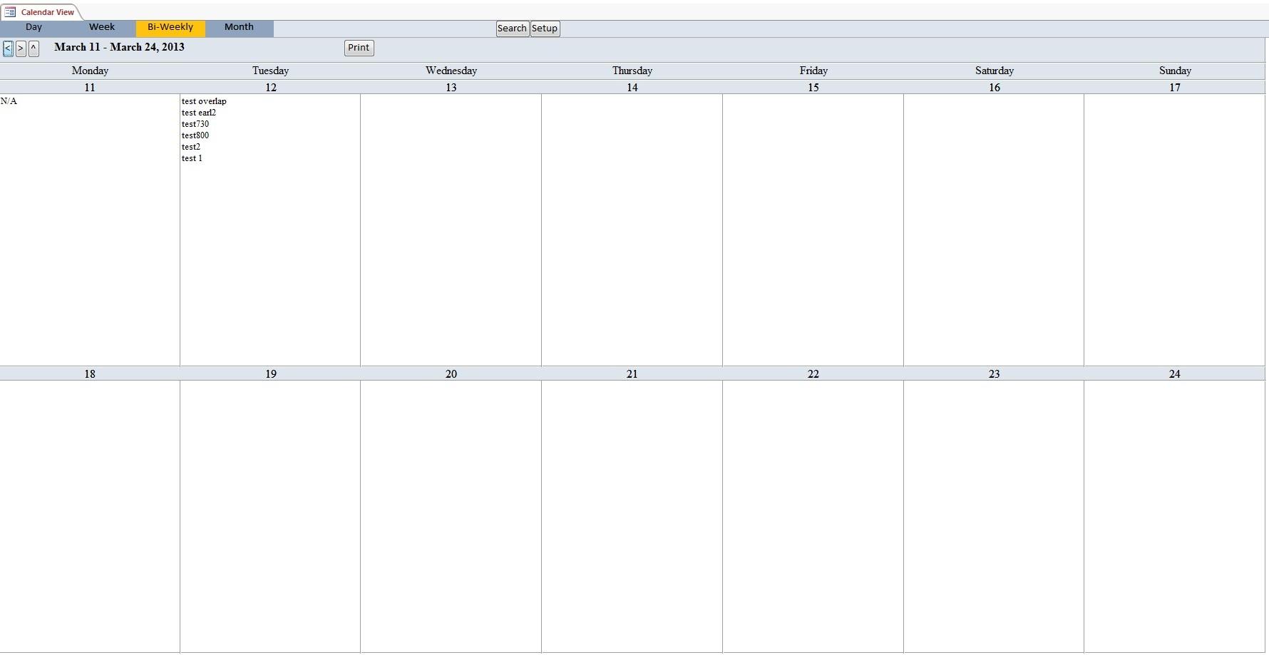 Biweek Within Bi Weekly Calendar Template - Free Calendar