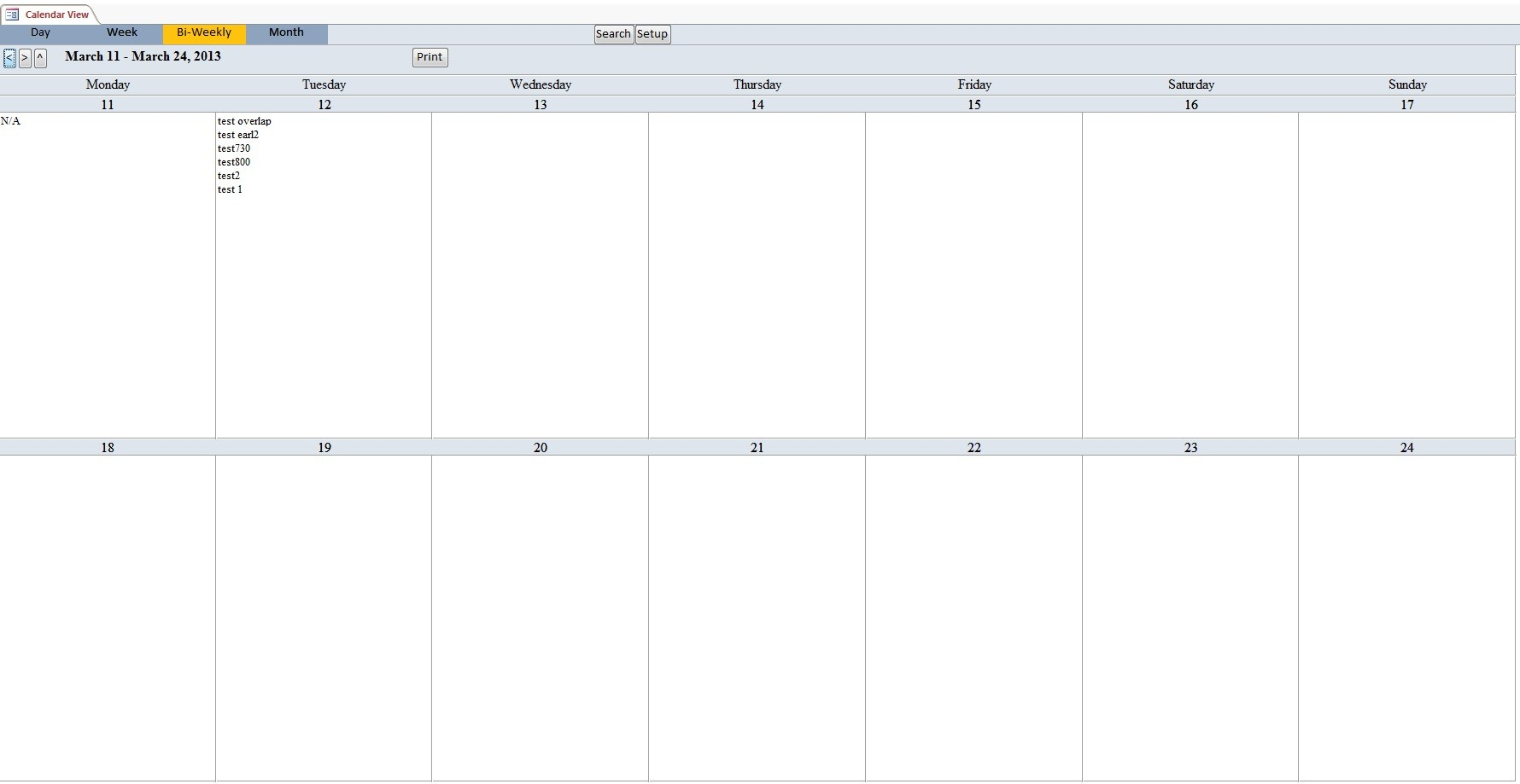 Biweek Within Bi Weekly Calendar Template - Free Calendar