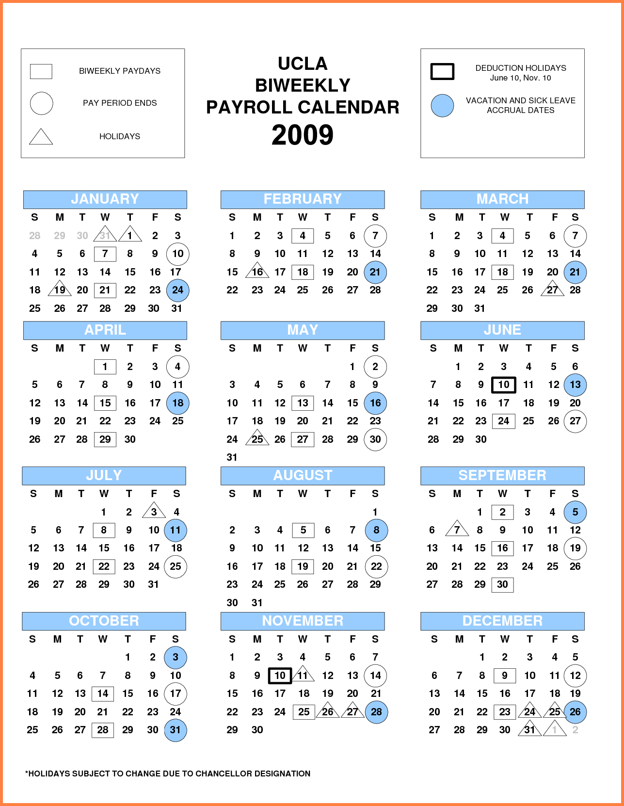 Biweekly Pay Scheduleate Payroll Calendar Samples Of