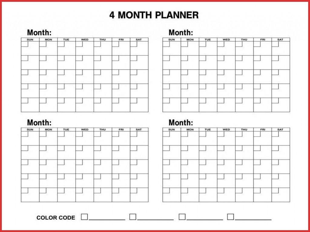 Blank Calendar – 9 Free Printable Microsoft Word Templates 4