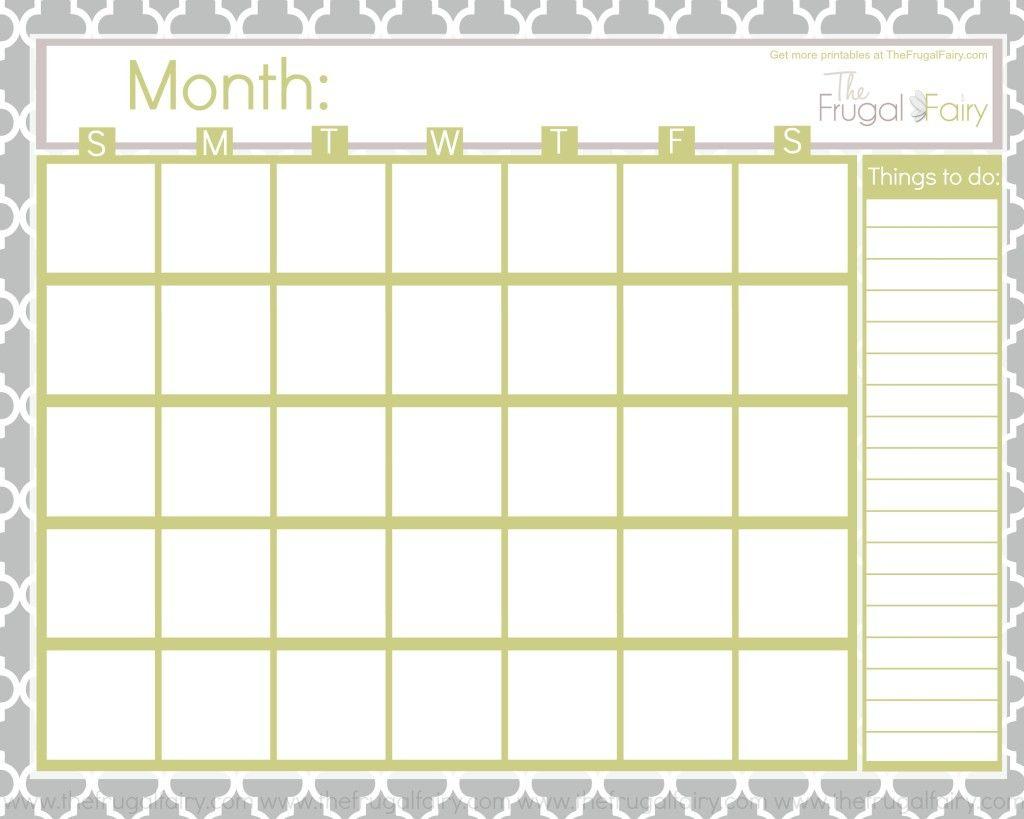 Blank Calendar Tff | Fonts | Blank Calendar, Free Printable