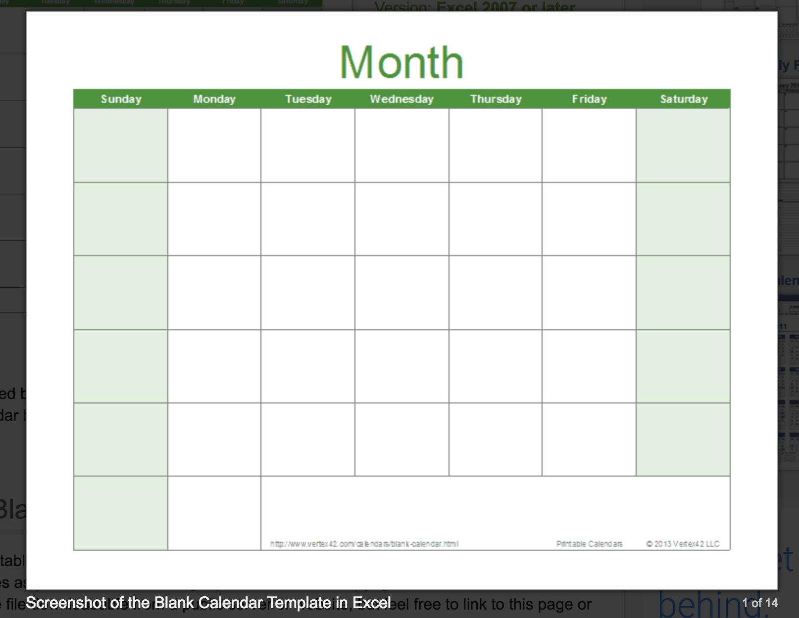 Blank Calendar: Wonderfully Printable 2019 Templates