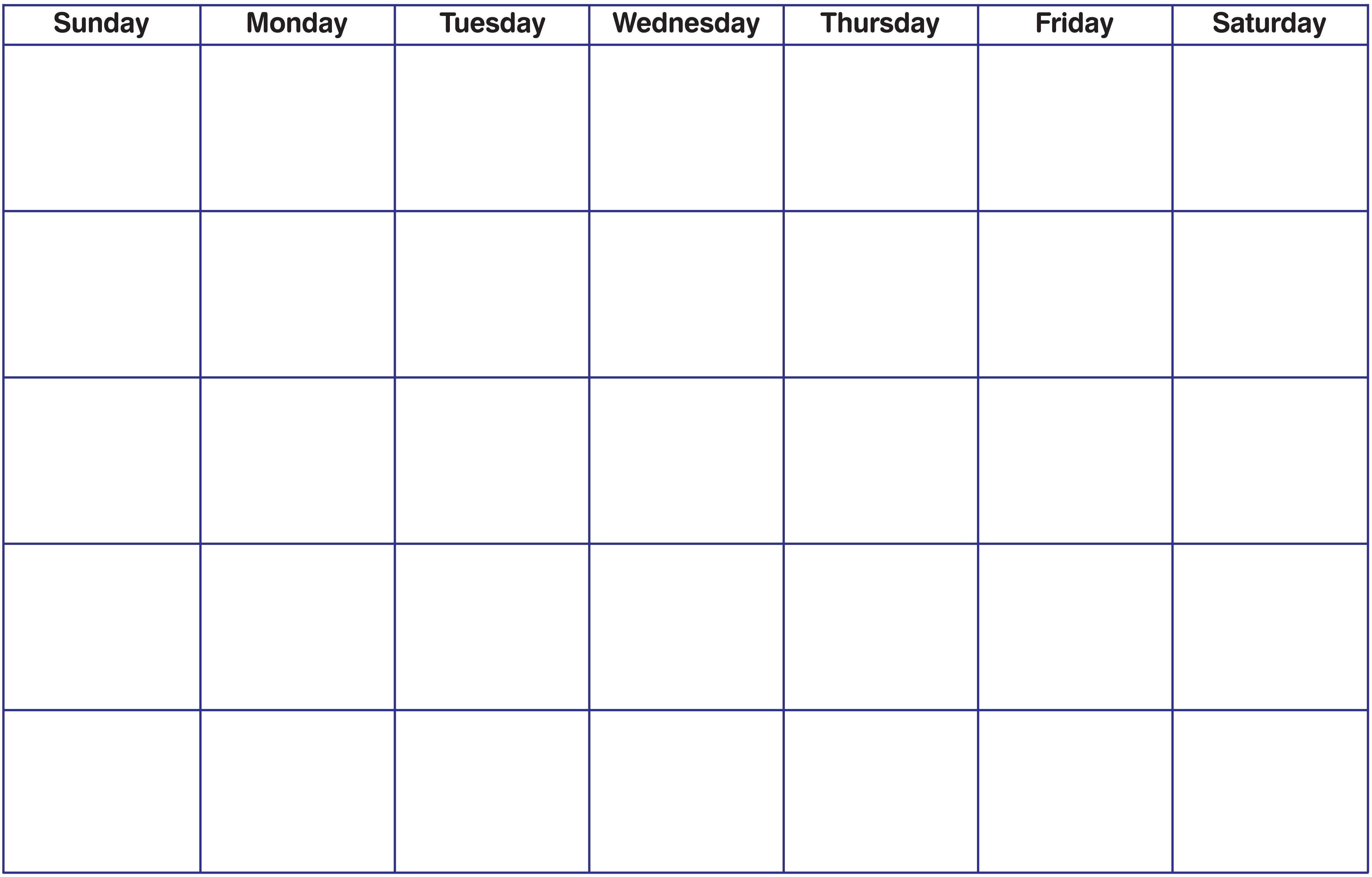 Blank Fillable Calendar Blank Calendar Printable Calendar