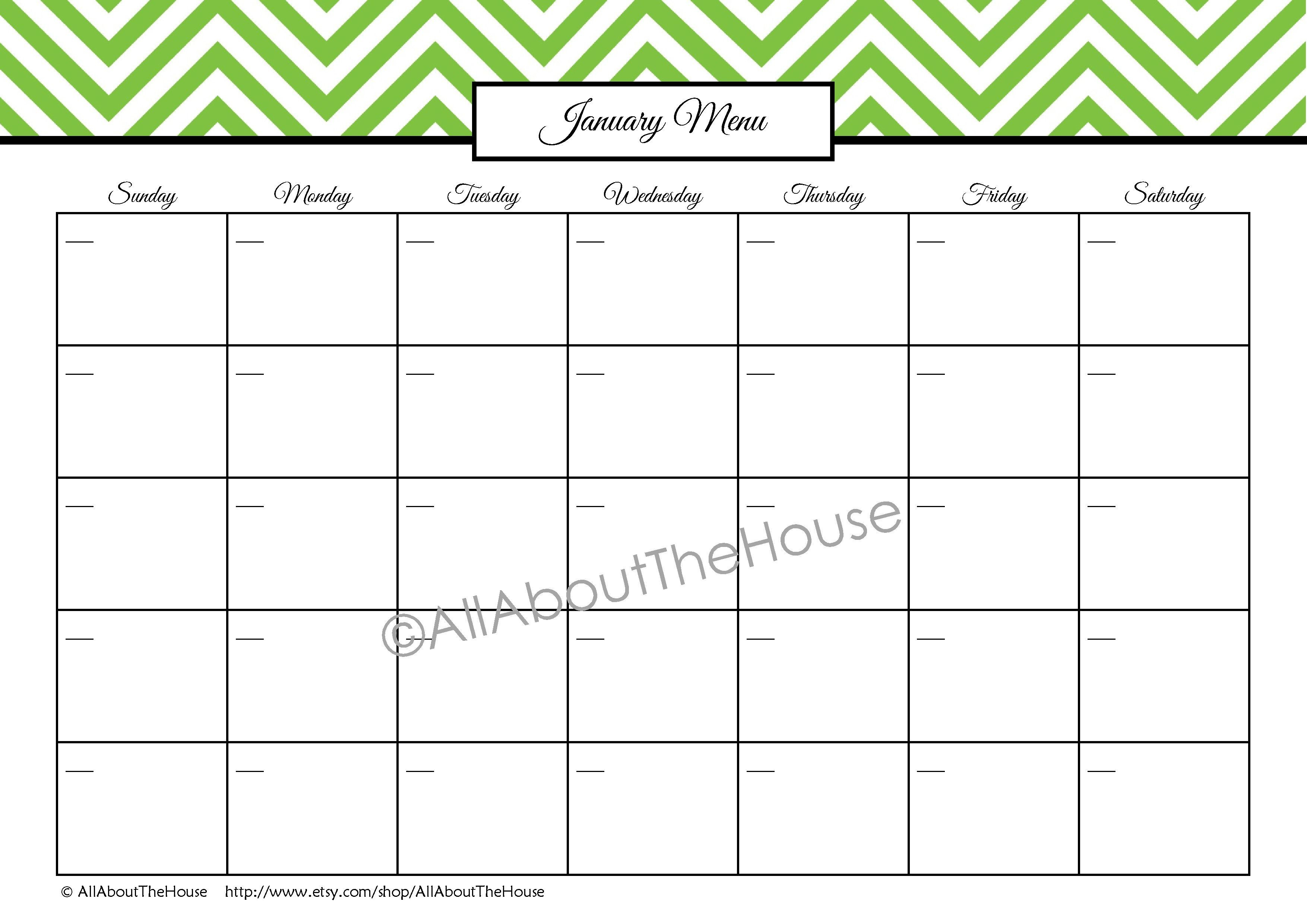 Blank Month Calendar No Weekends Printable For Totally Free