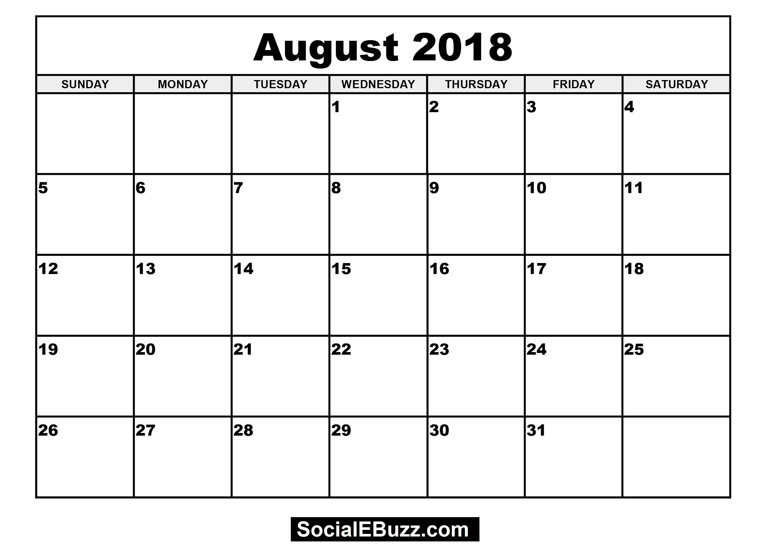 Blank Monthly Calendar For 4×6 2018 Printable For 100 % Free