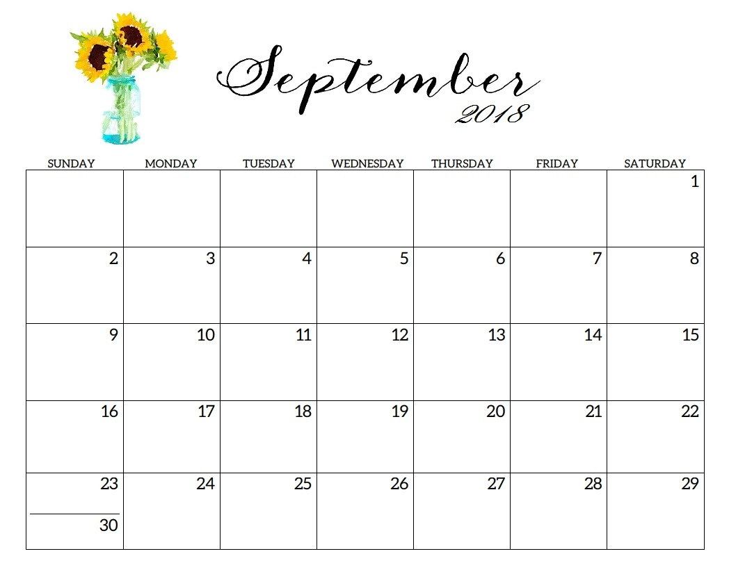 Blank Printable September Calendar 2019 Templates Word Excel Pdf