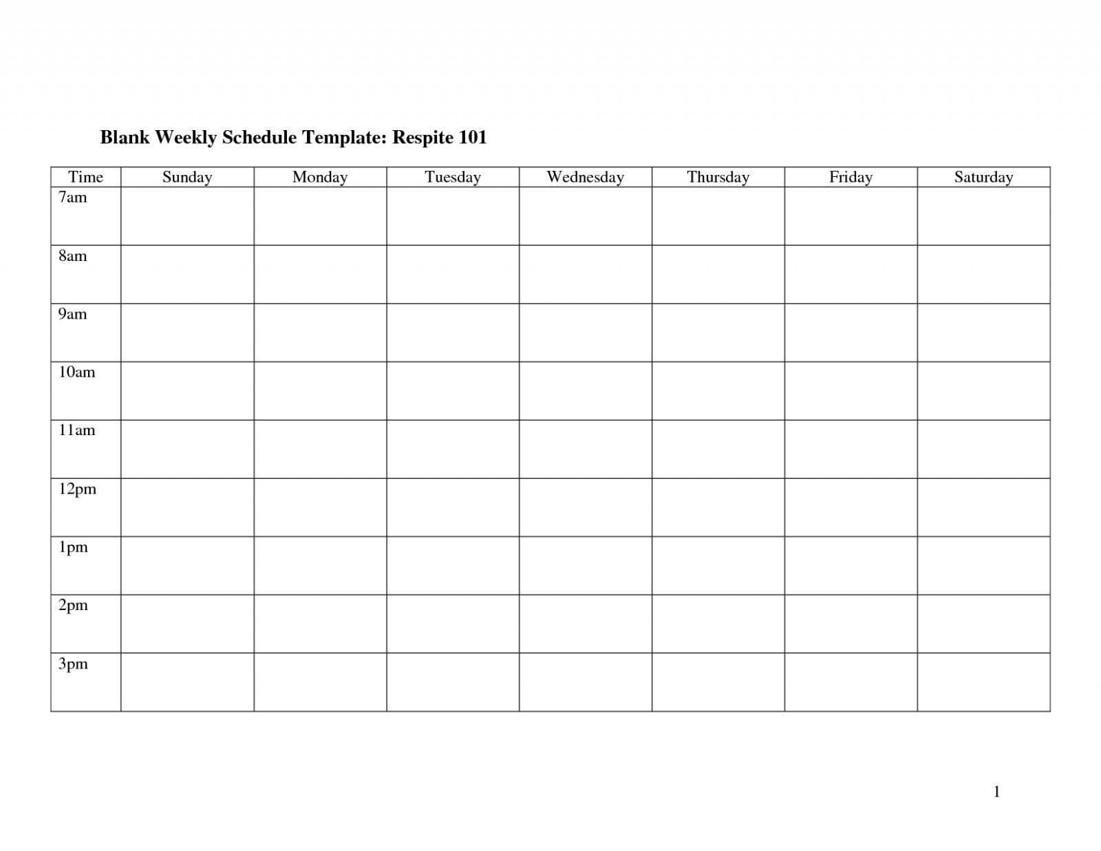 Weekly Calendar Template Monday To Friday | Example ...