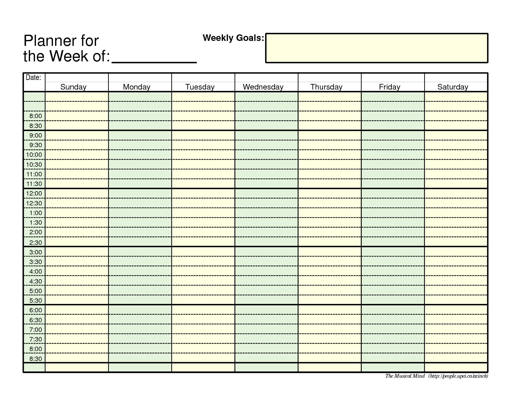 Blank Weekly Work Schedule Bi Free Printable Employee | Smorad