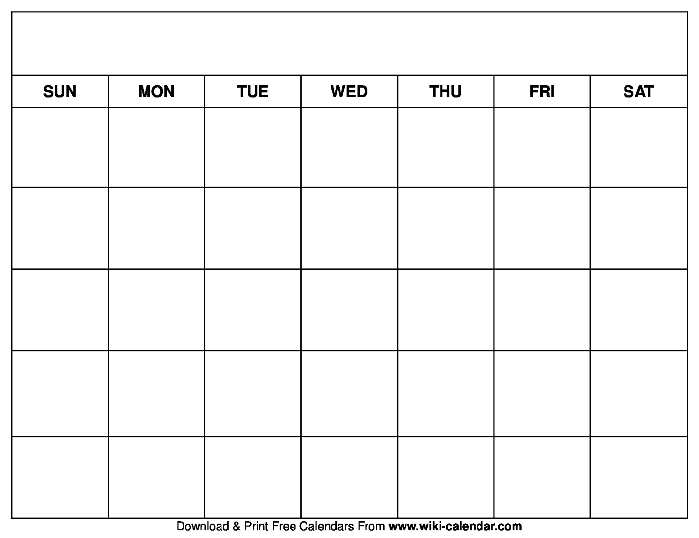 Blankndar Printable Template Monthly Templates Free Pdf