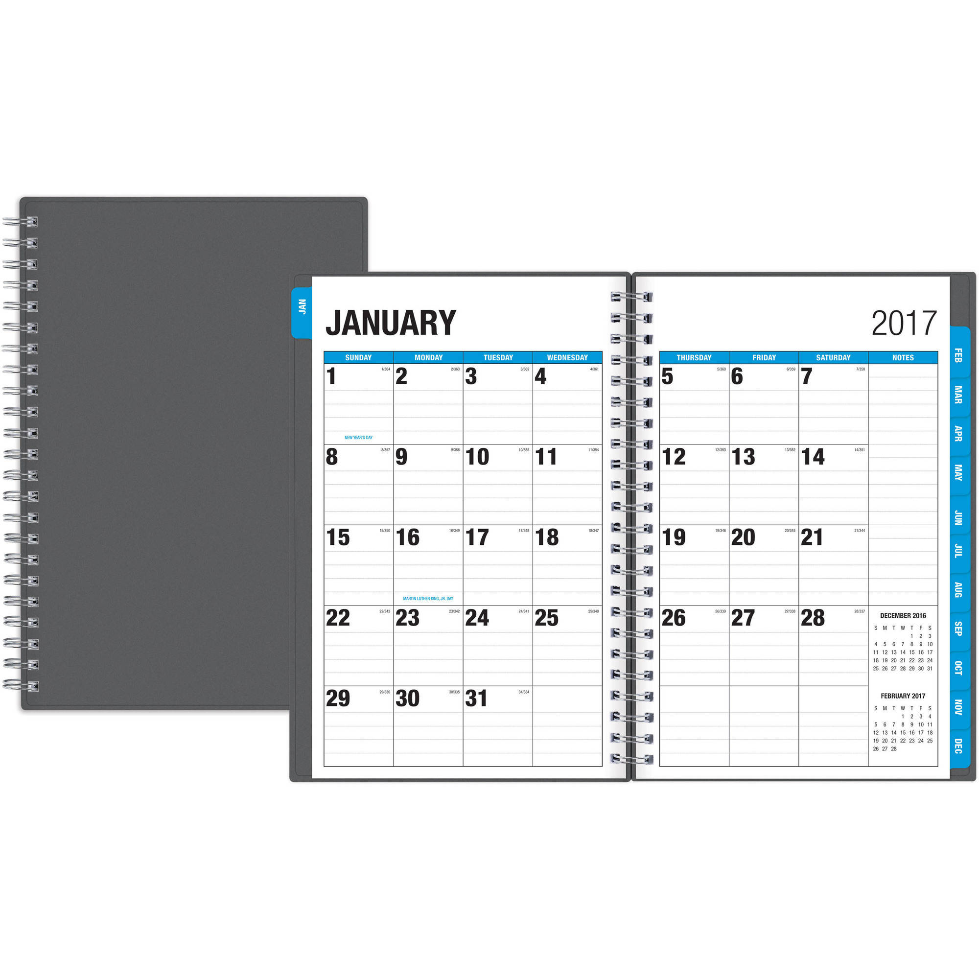 "Blue Sky The Big Picture 5"" X 8"" Weekly/monthly Planner, 2017"
