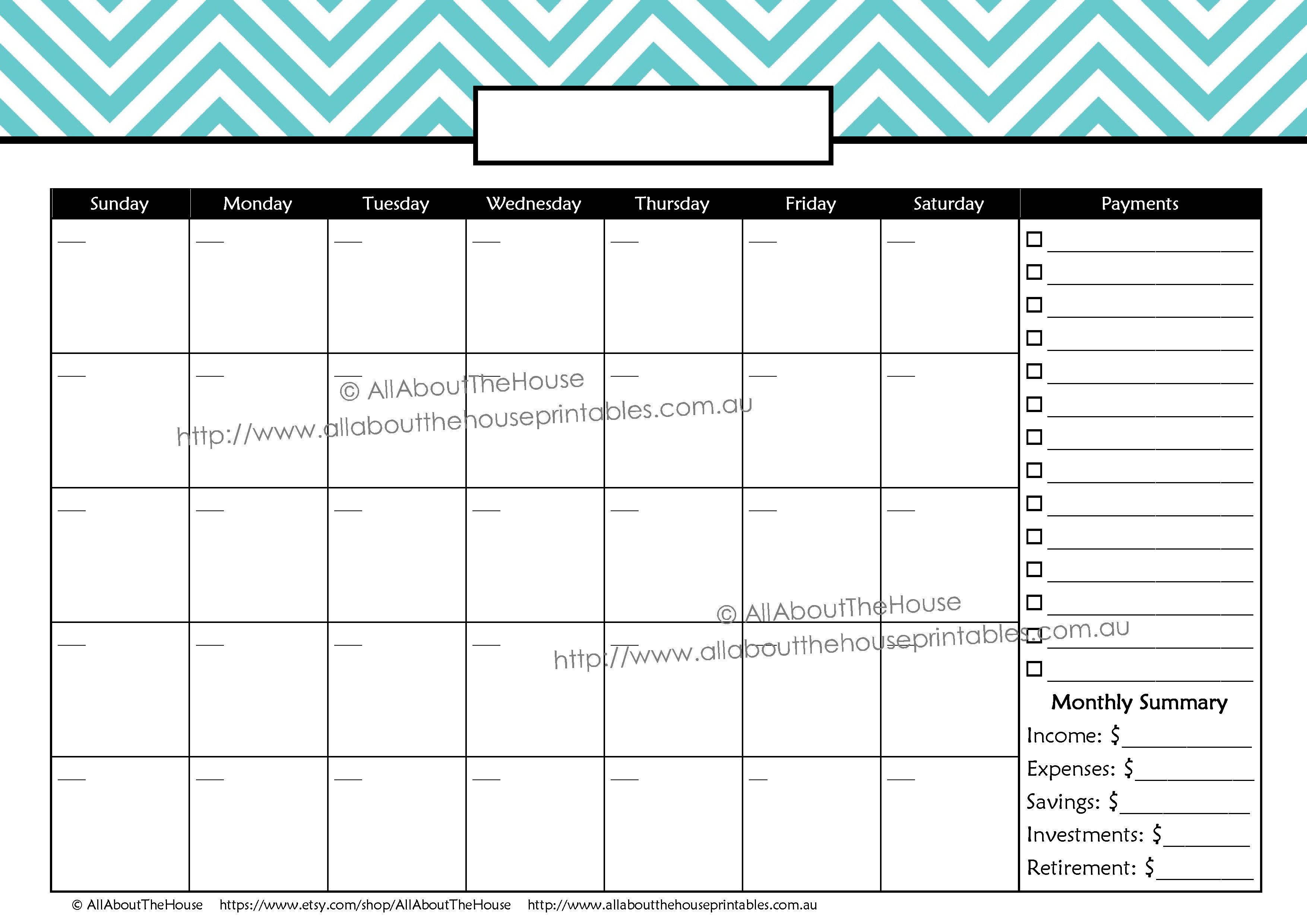 Bpay Planner | Allaboutthehouse Printables