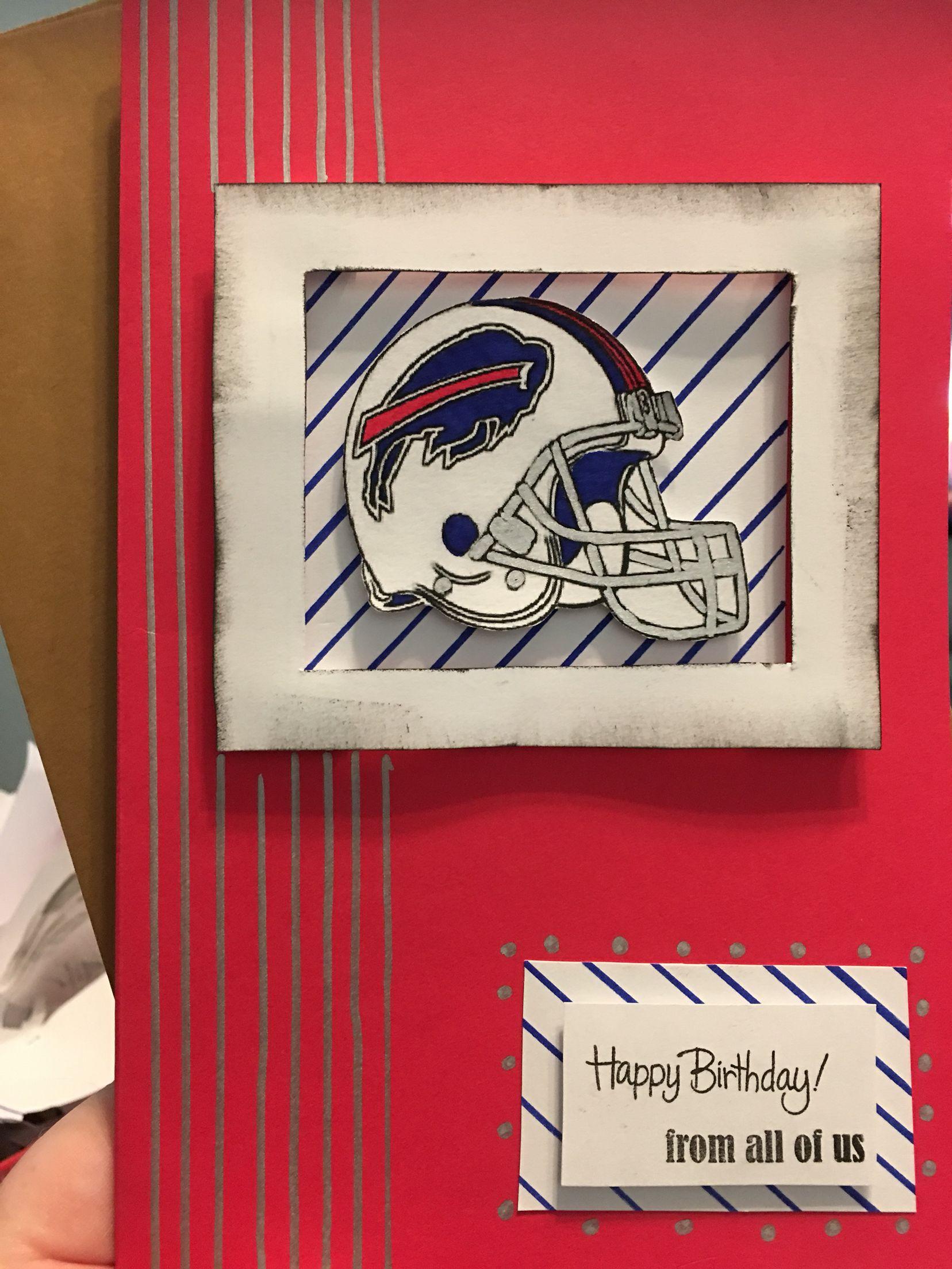 Buffalo Bills Birthday Card Diy | Card Making | Diy Cards