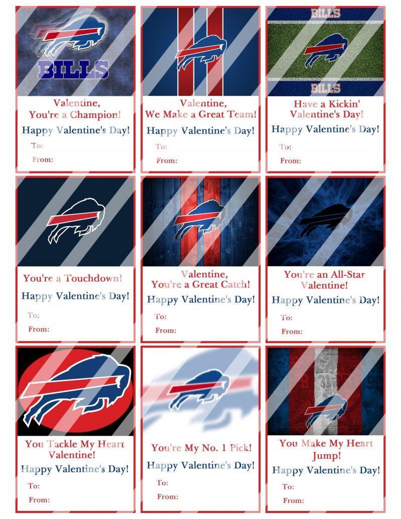Buffalo Bills Football Digital Or Printed Valentines Day