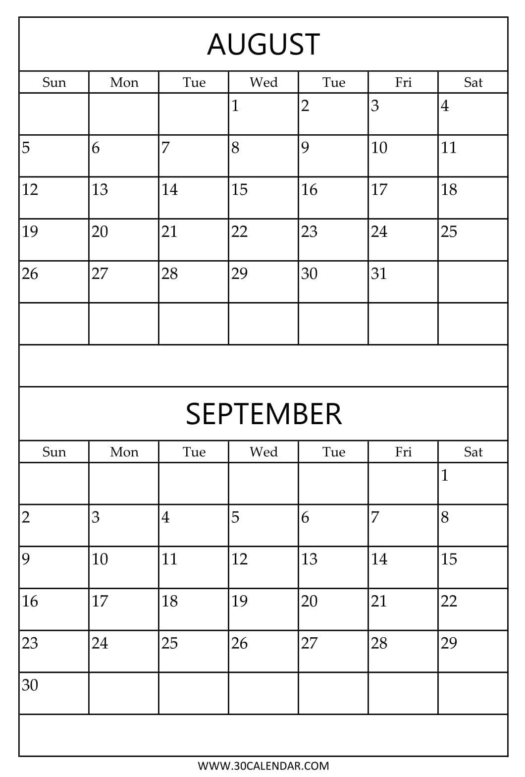 Calendar 2018 August To December Printable | Calendar Format