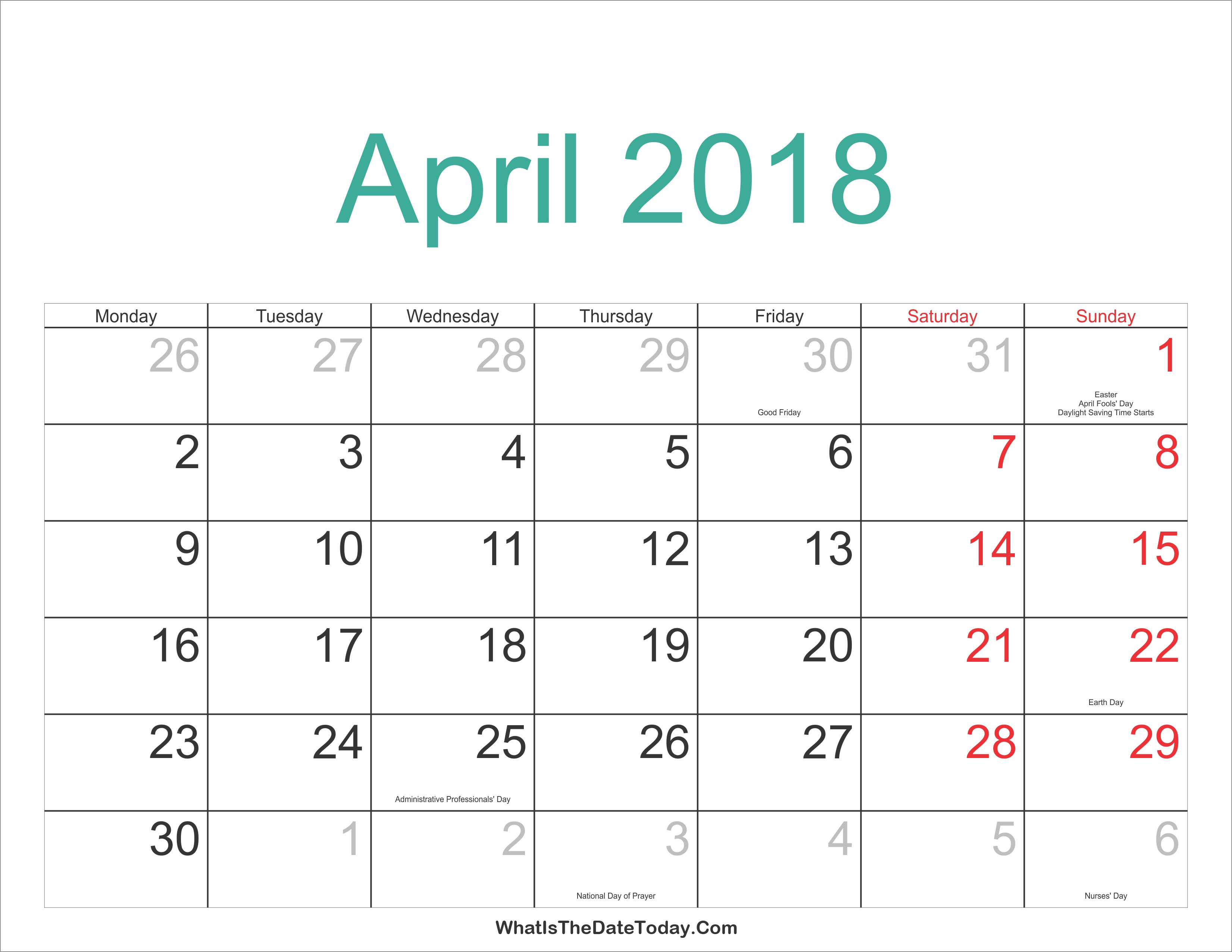 Calendar 2018 With Jewish Holidays Printable For 100 % Free