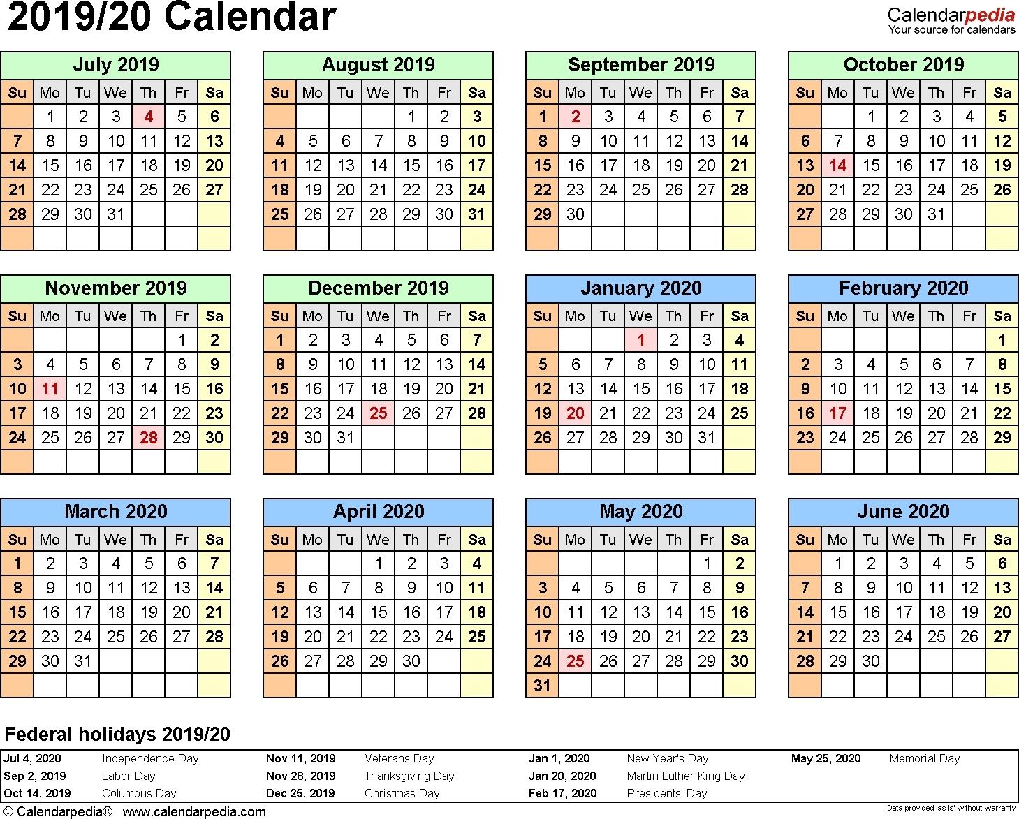 Calendar 2020 19