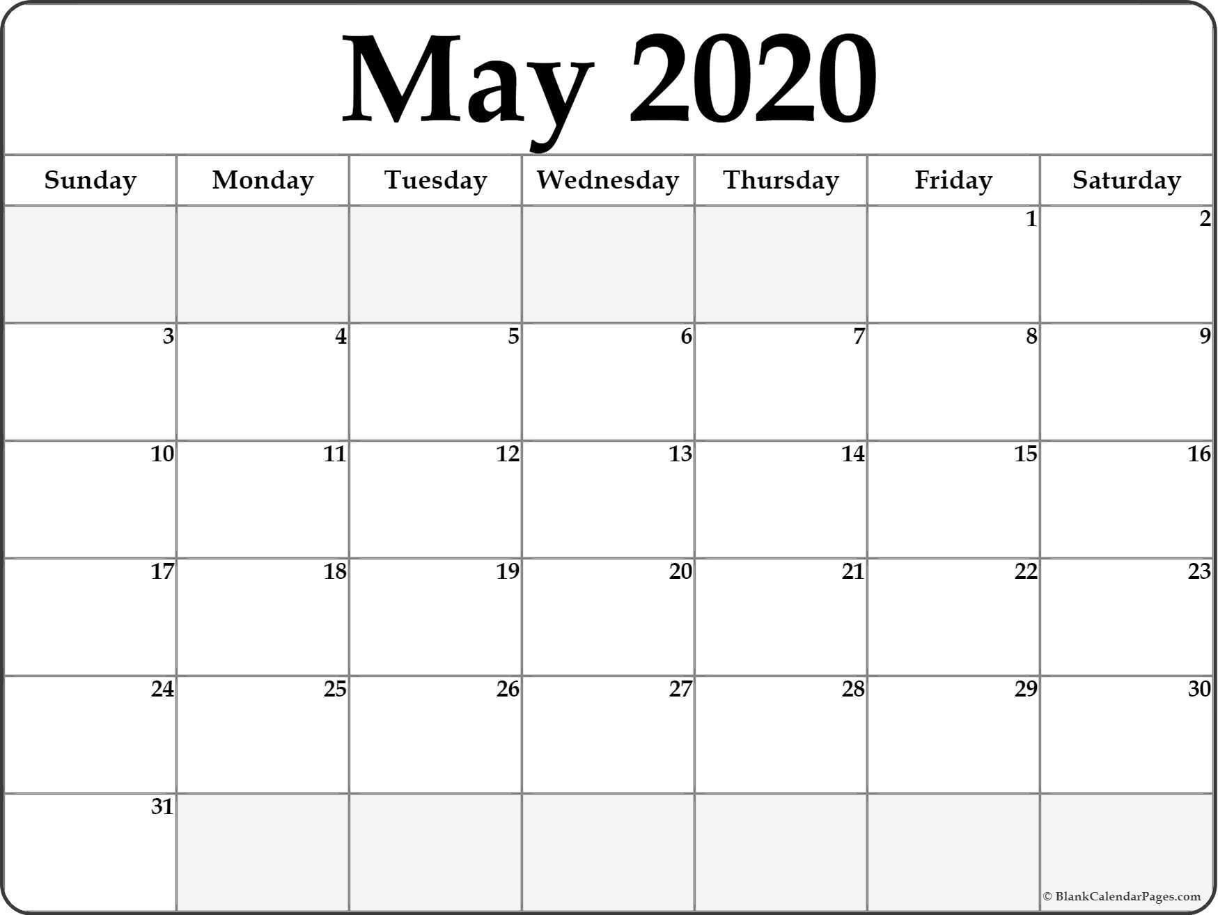 Calendar May 2020 Template Google » Creative Calendar Ideas
