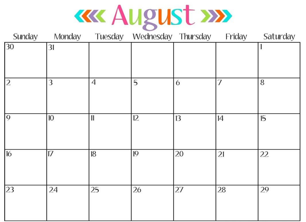 Calendar Month Template 1 With Calendar Month Template