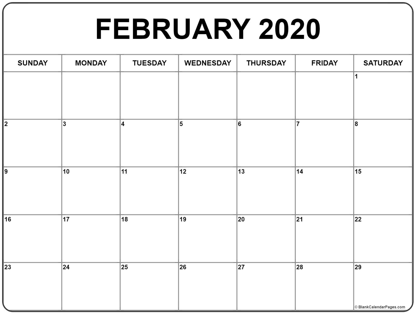 Calendar Of February 2020 In Africa » Creative Calendar Ideas