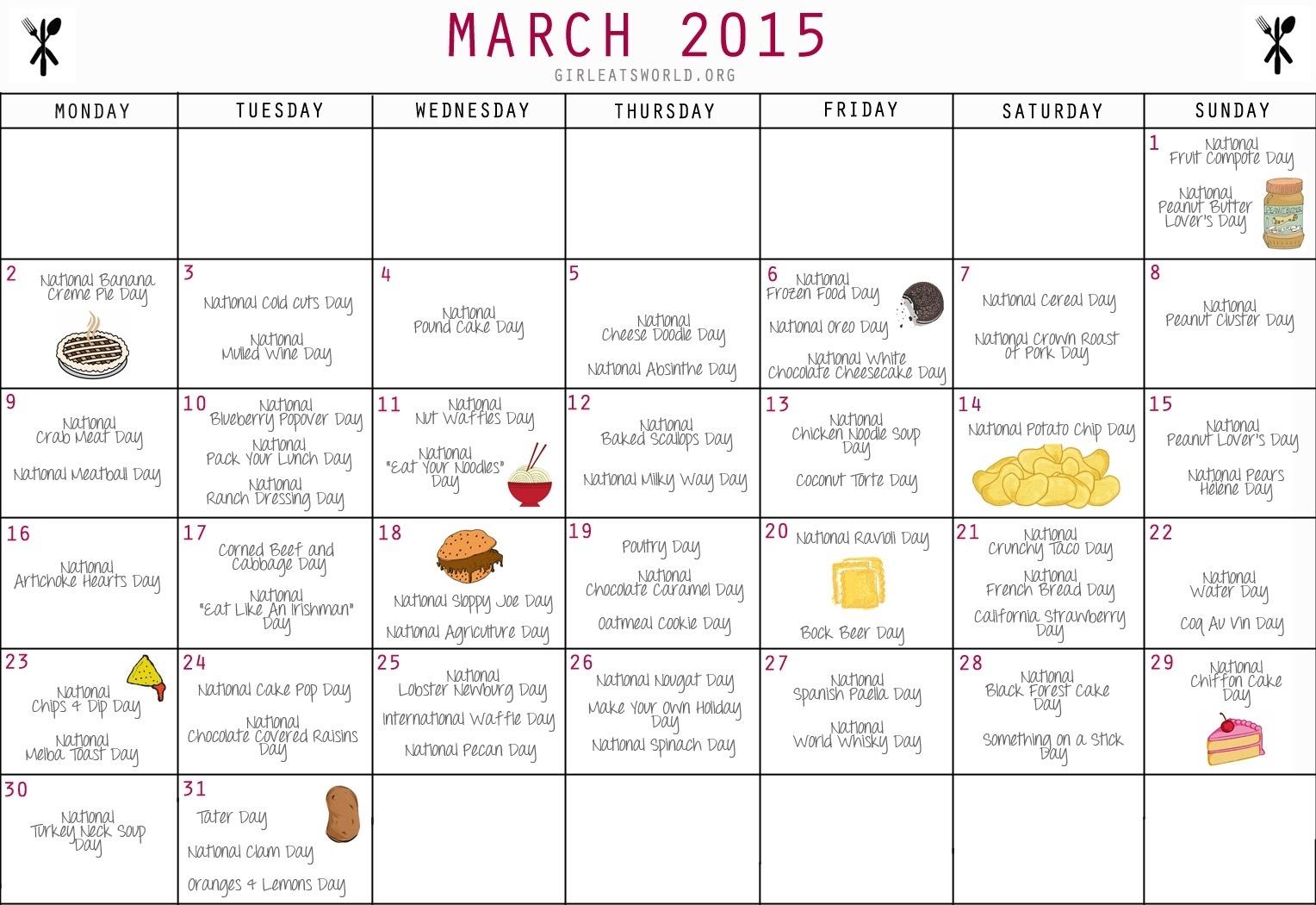 Calendar Of National Days   2020 Calendar