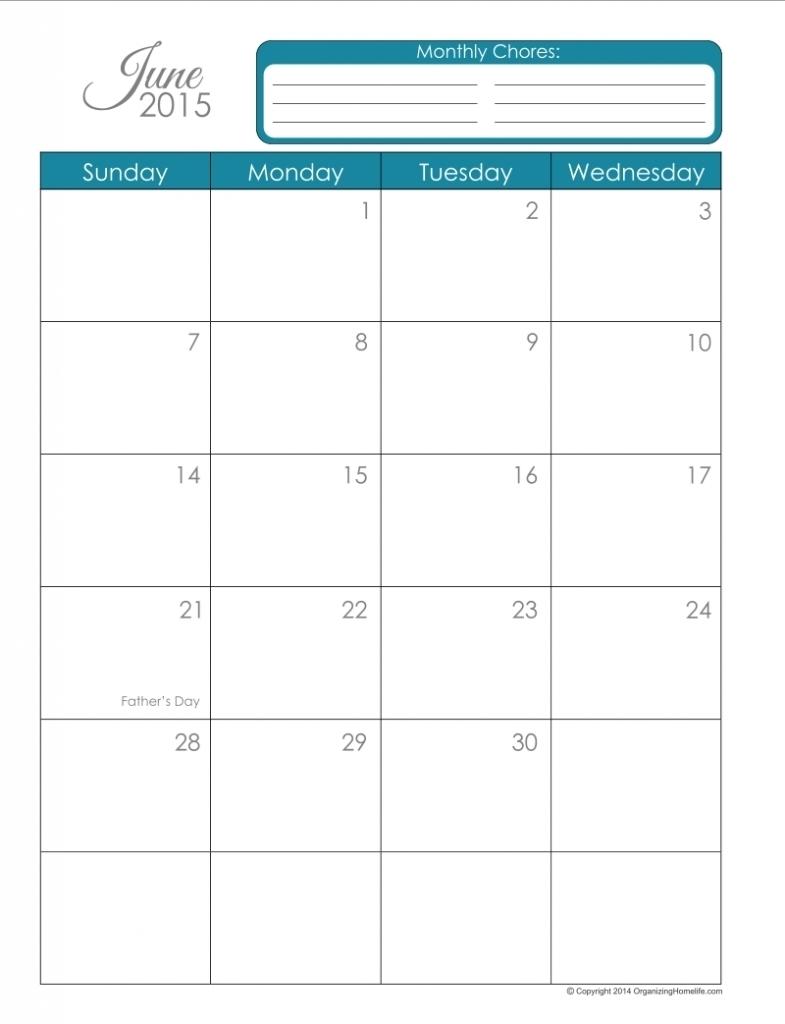 Calendar Template 8.5 X 11 | Igotlockedout