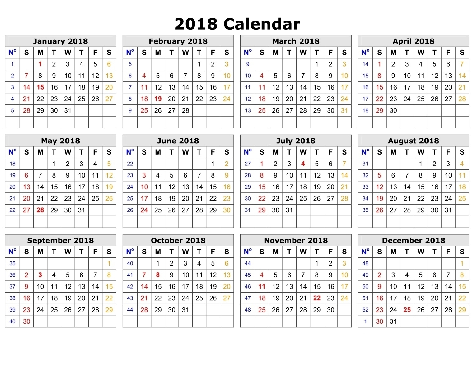 Calendar Template Date And Time | One Page Calendar Printable