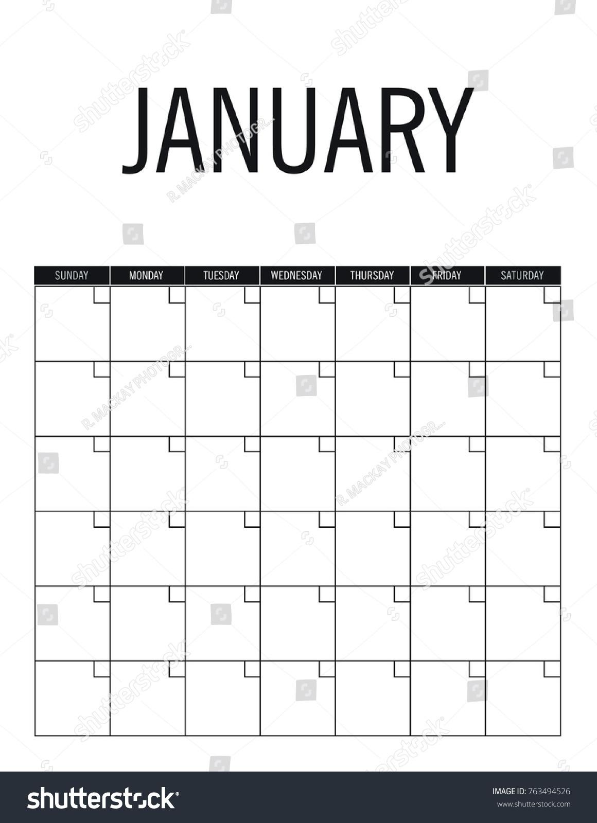 Calendar Template No Year • Printable Blank Calendar Template