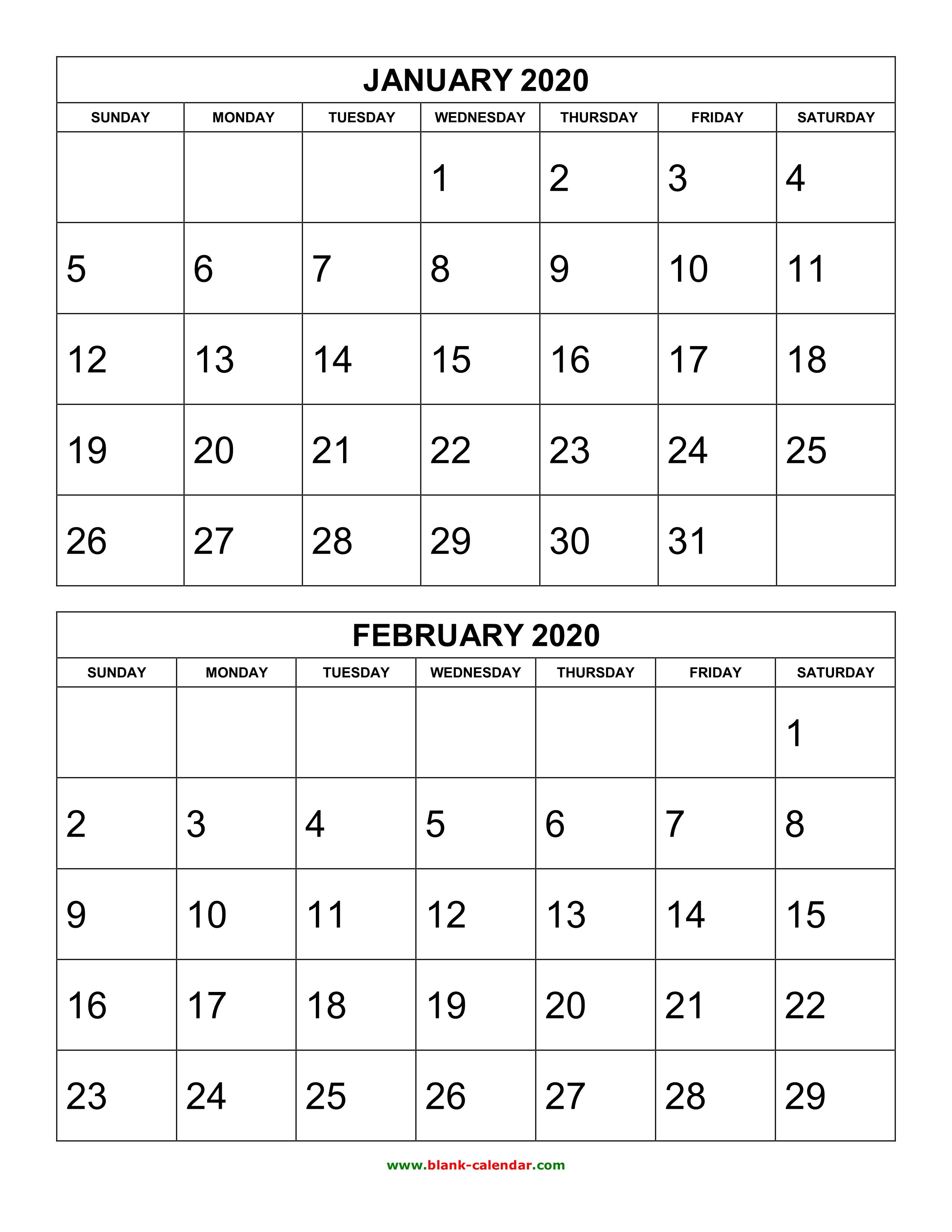 Calendar Template Printable