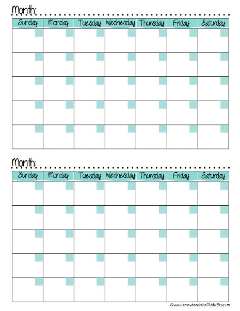Calendars 2 Months Per Page Seven Photo And Month Calendar