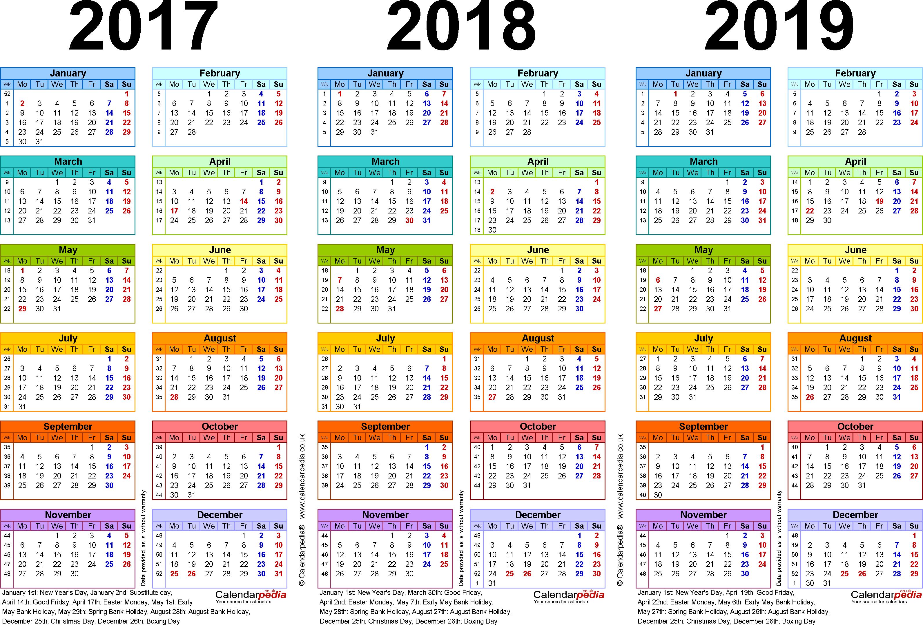 Canon Mac School Calendar For 2018-2019