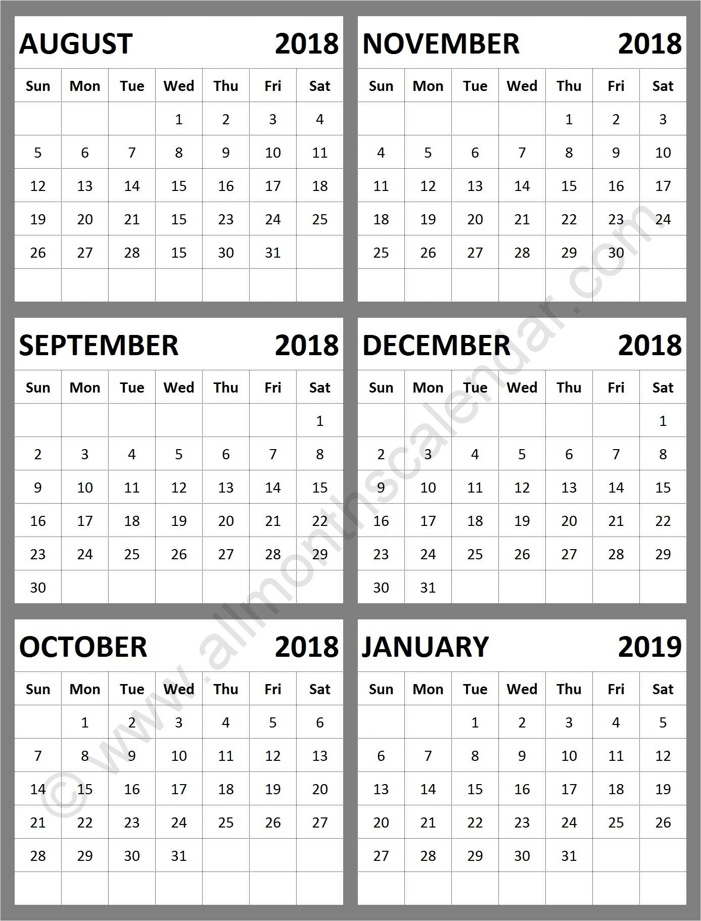 Catch August Through December 2019 Calendar ⋆ The Best