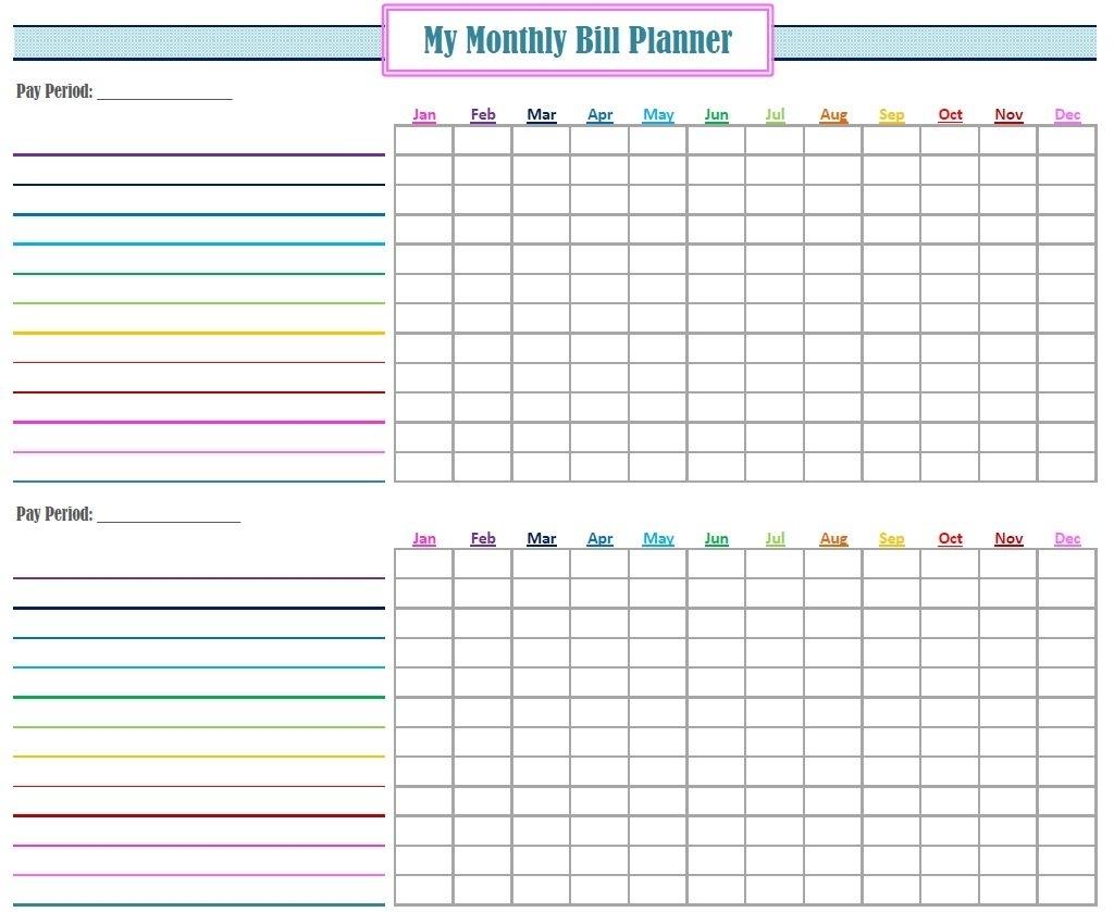 Catch Blank Printable Monthly Bill Organizer ⋆ The Best