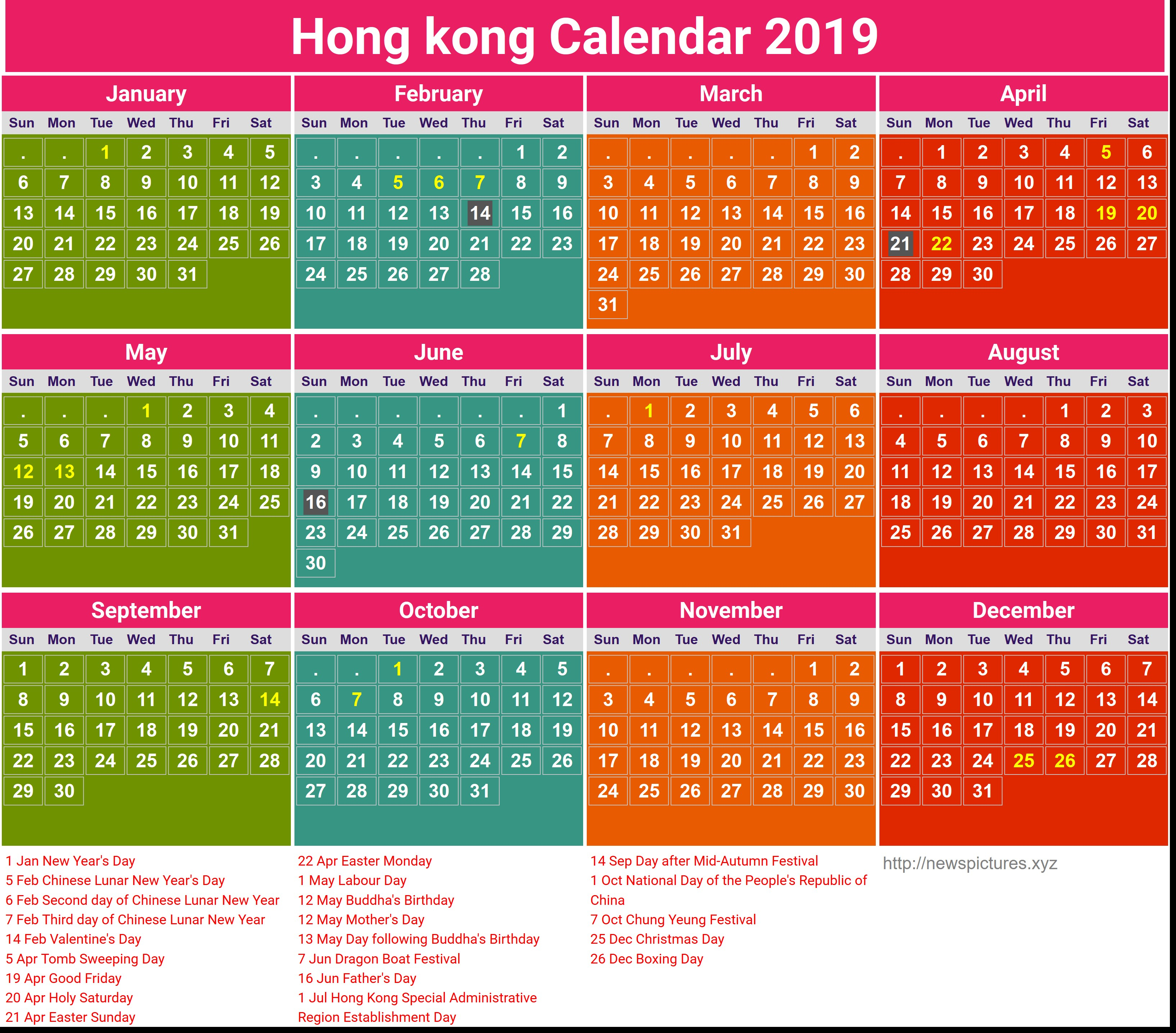 Chinese Lunar Calendar 2019 Malaysia Printable For No Cost
