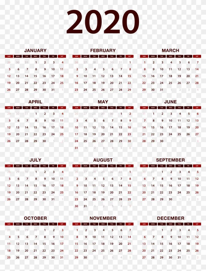 Chinese Lunar Calendar 2020 Printable | Printable Free