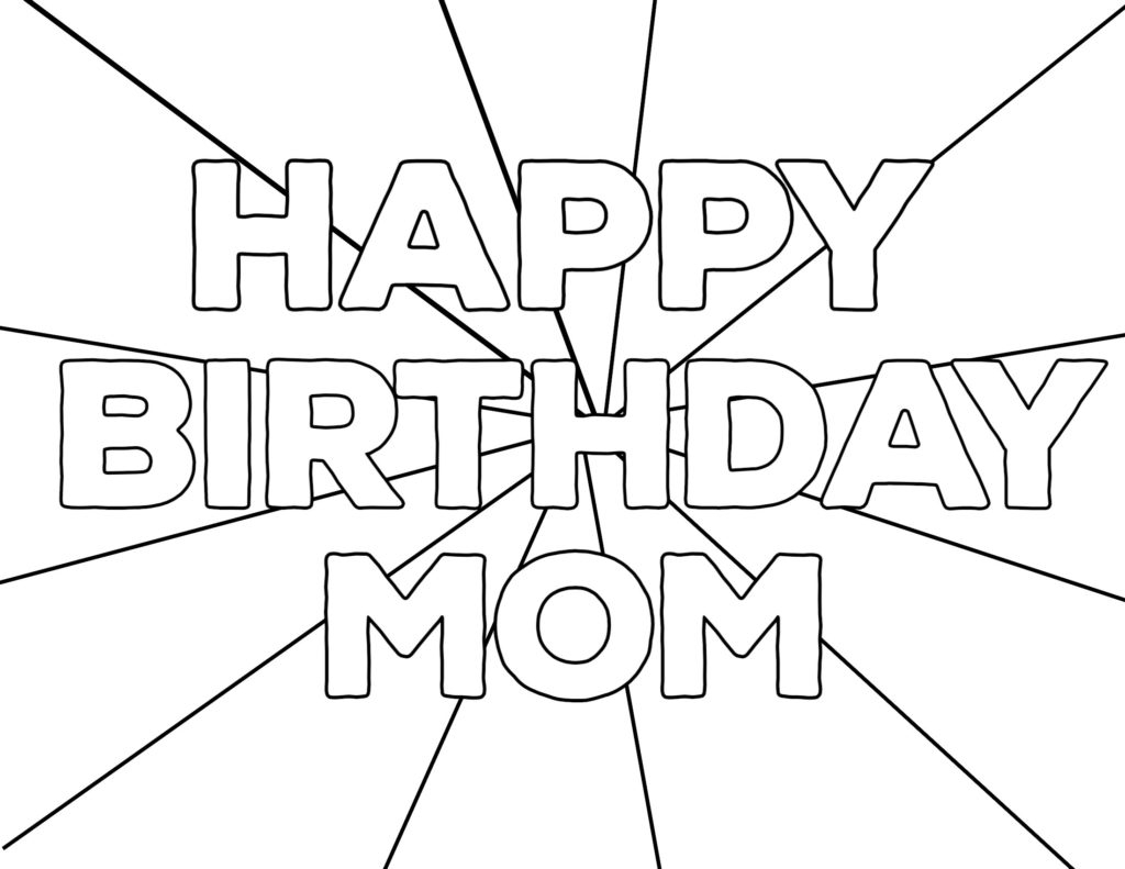 Coloring ~ Free Printable Happy Birthday Coloring Pages