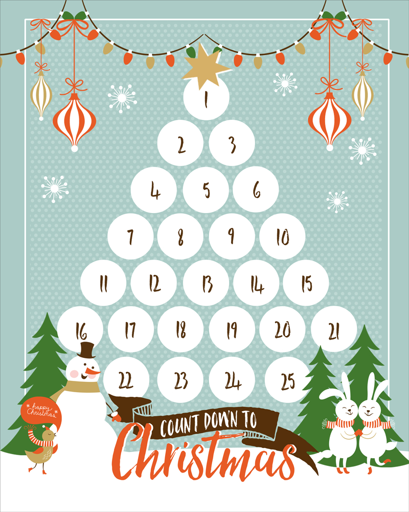 Countdown To Christmas Printable | Ogt Blogger Friends