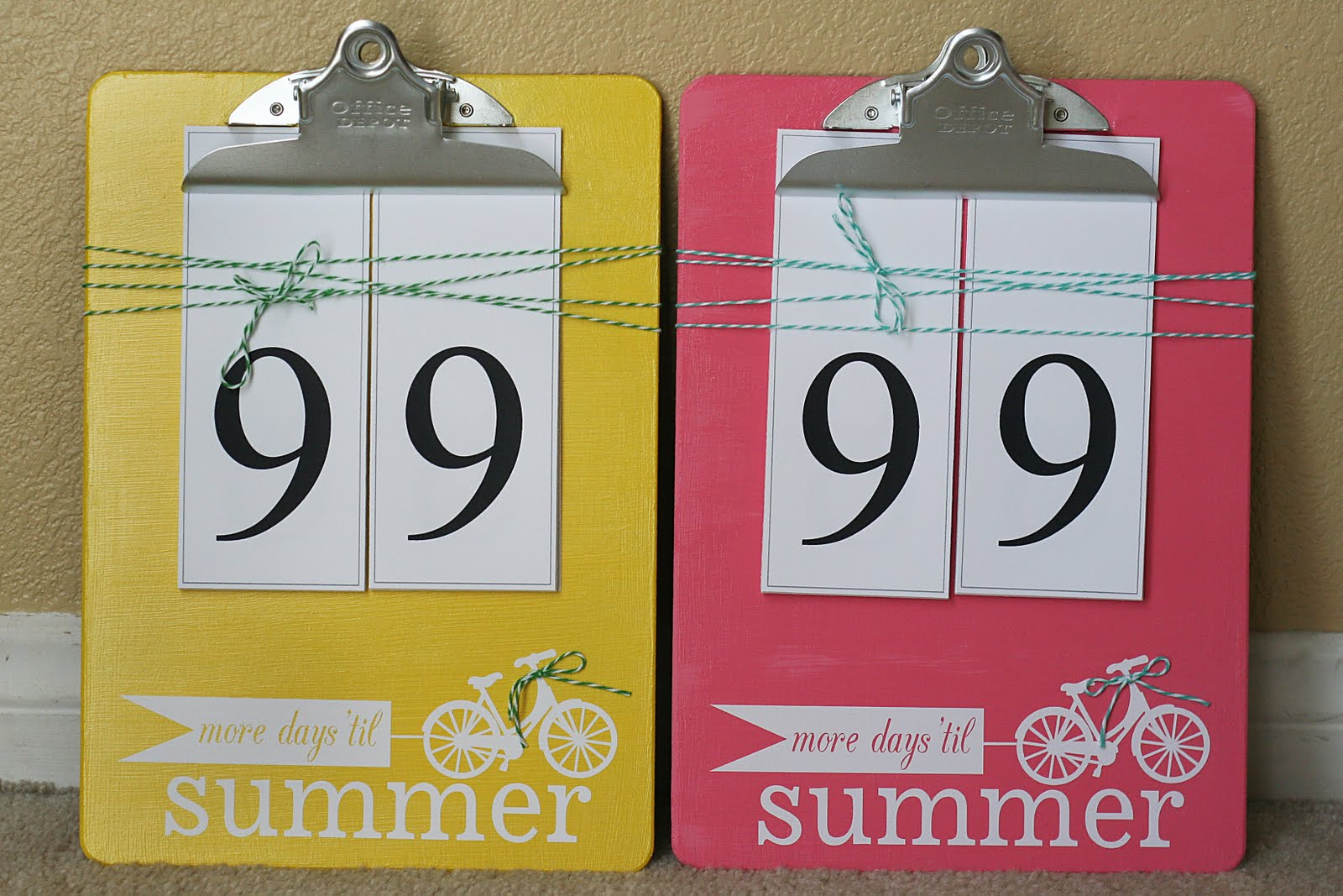 Countdown To Summer - Free Printable - Happy Home Fairy