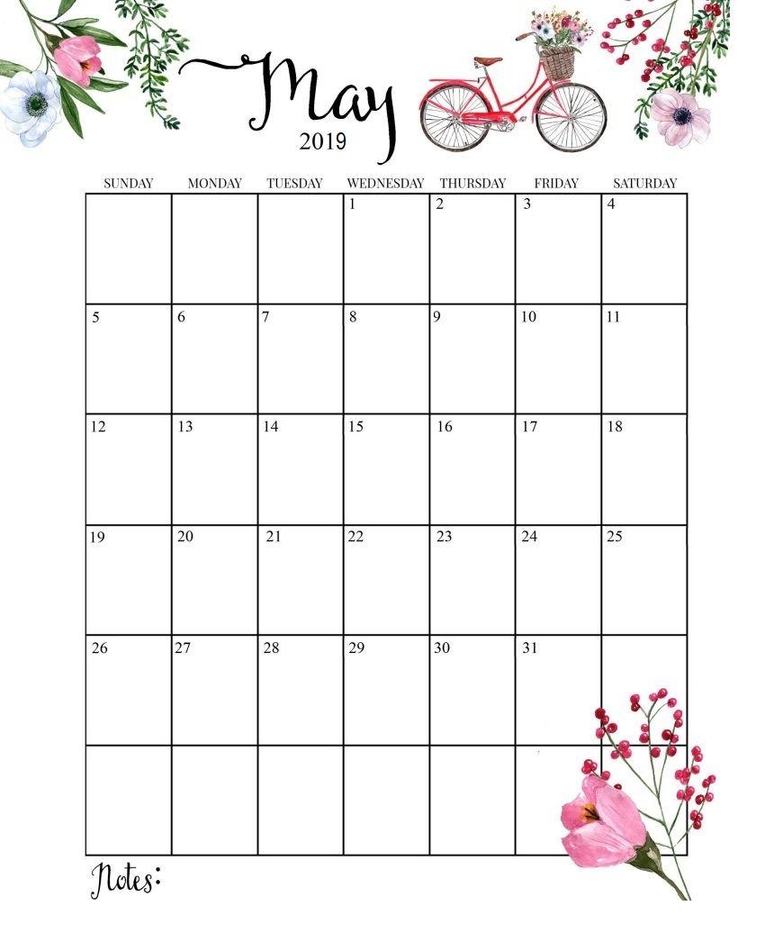 Cute 2019 Calendar Printable Month Calendarmay 2019 Calendar