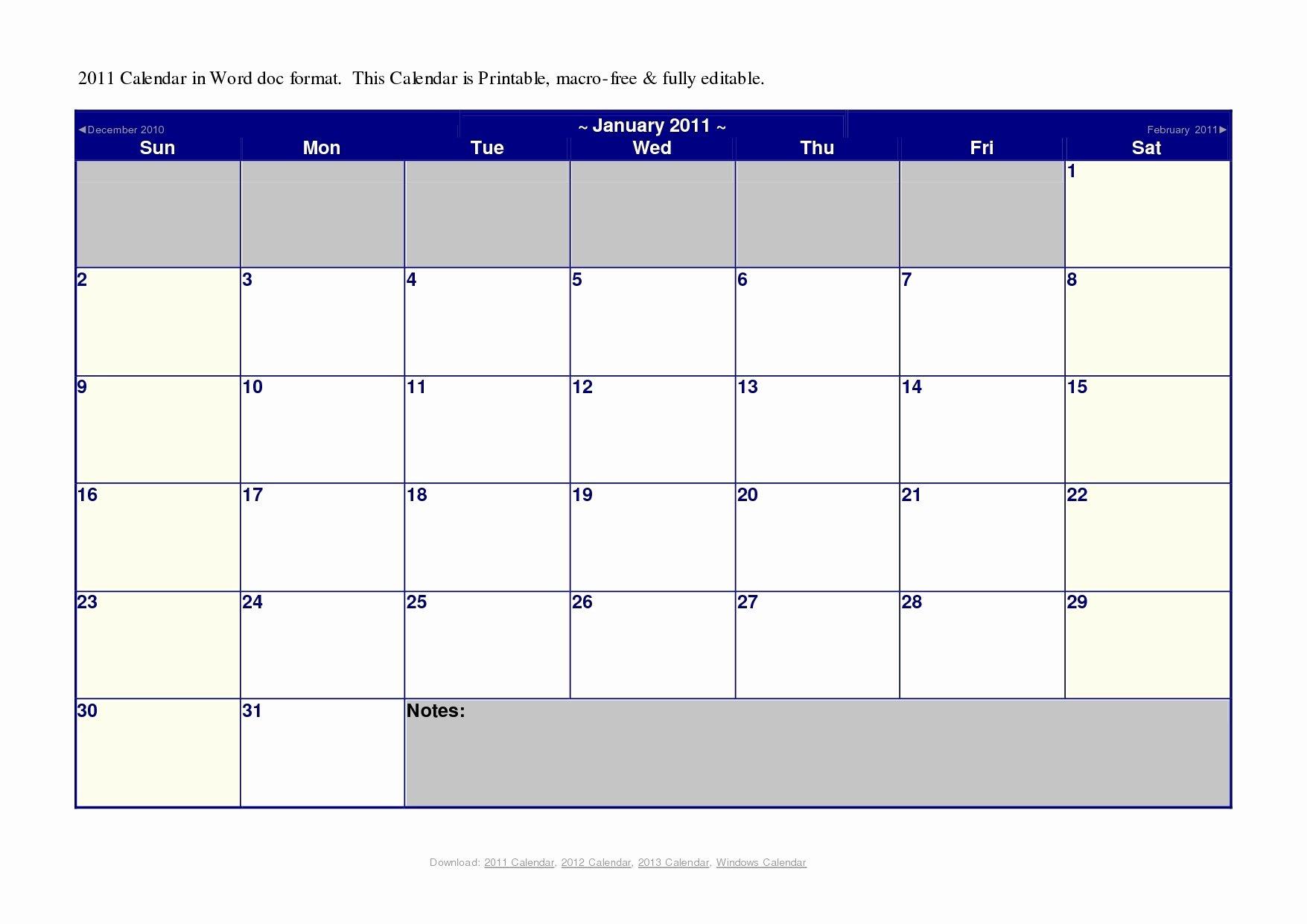 Шаблон Word Календарь На Месяц