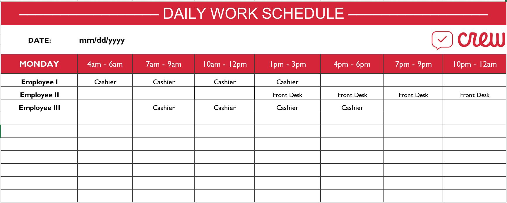 Daily Lesson Plan E Doc Schedule Word Planner Preschool