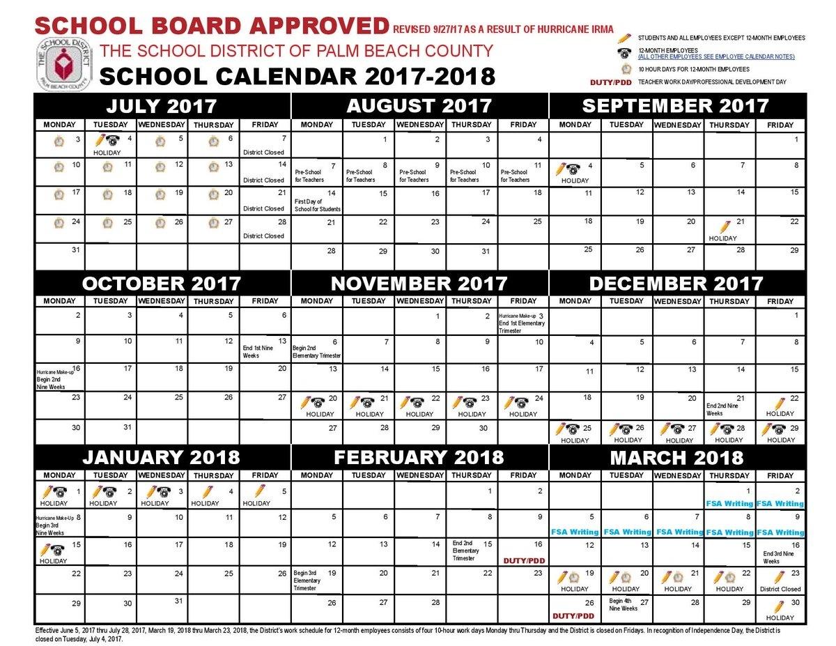 Dashing Calendar School District Palm Beach • Printable