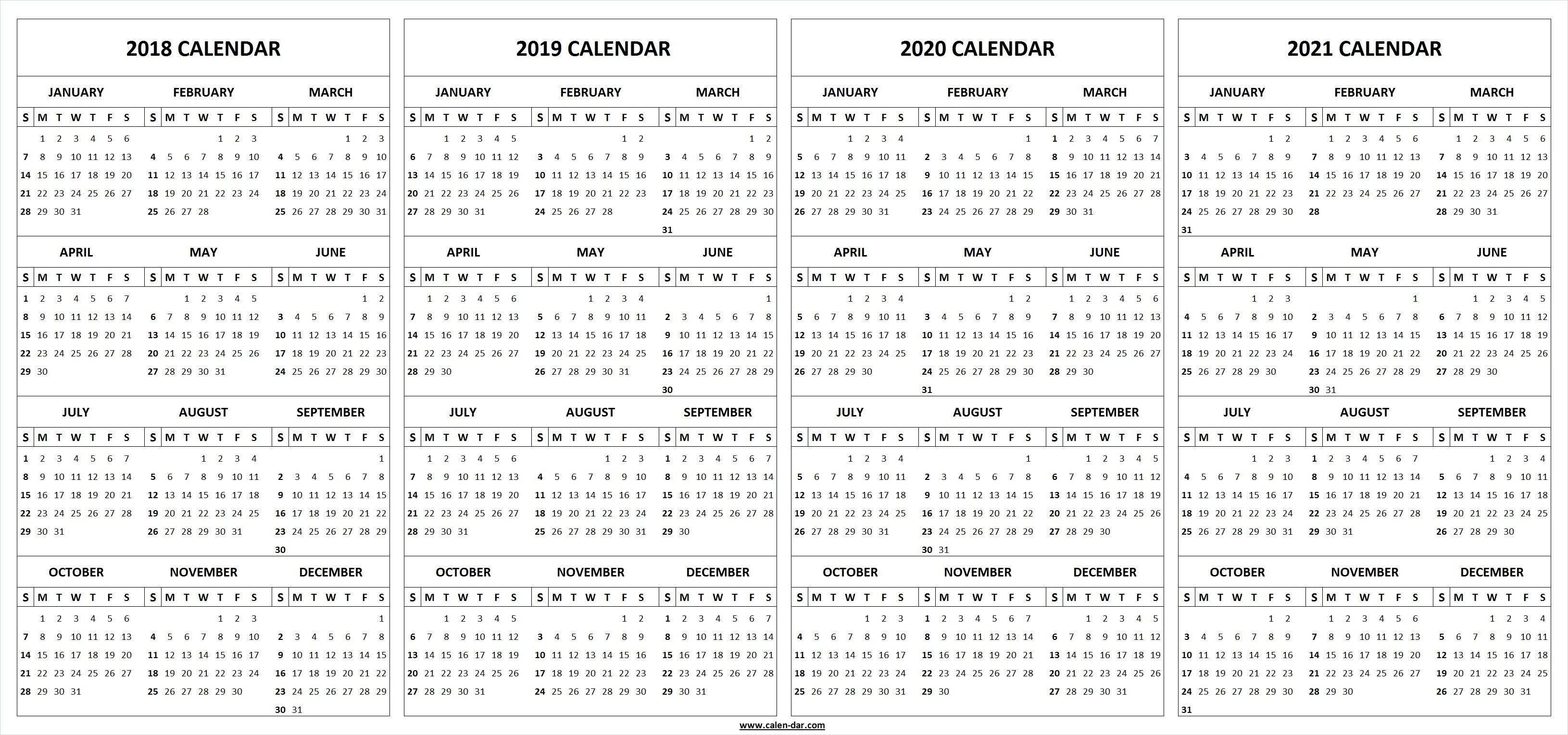 Dashing Printable Calendar For 2019 And 2020 • Printable