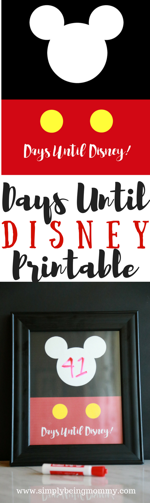 Days Until Disney Printable | Simply Being Mommy