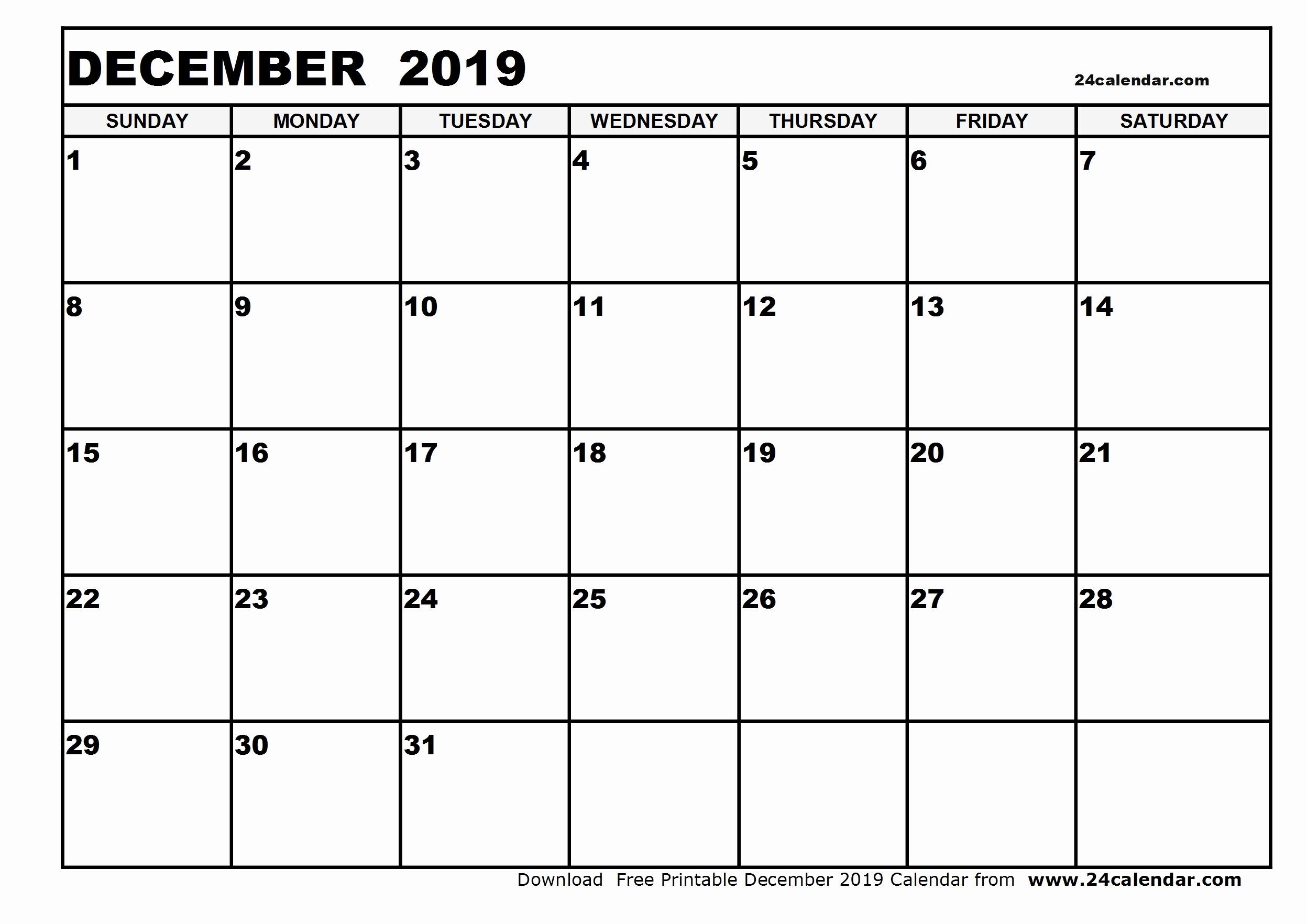 December 2019 Calendar Wincalendar | Calendar Template